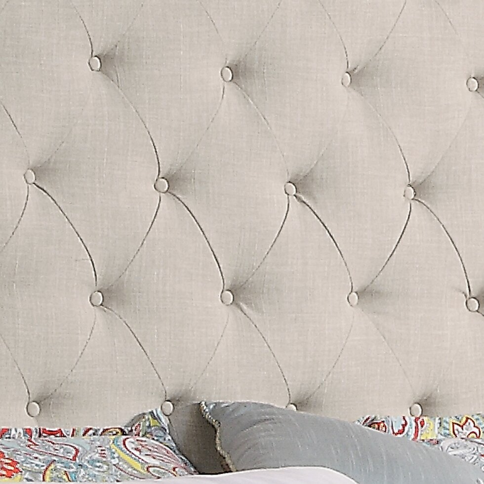 darby home co noblesville upholstered panel bed amp reviews