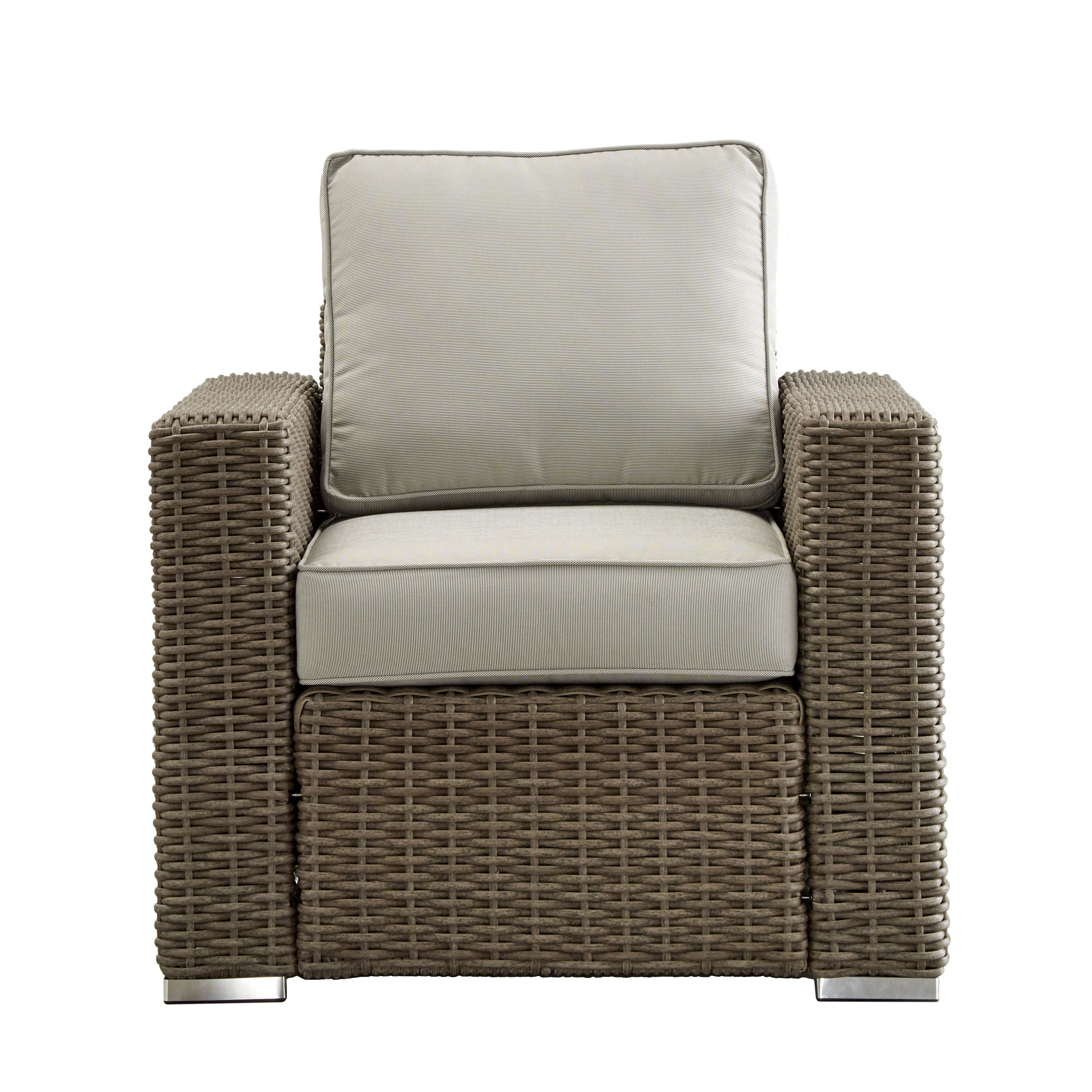 Darby Home Co Rathdowney Wicker Outdoor Occasional Arm