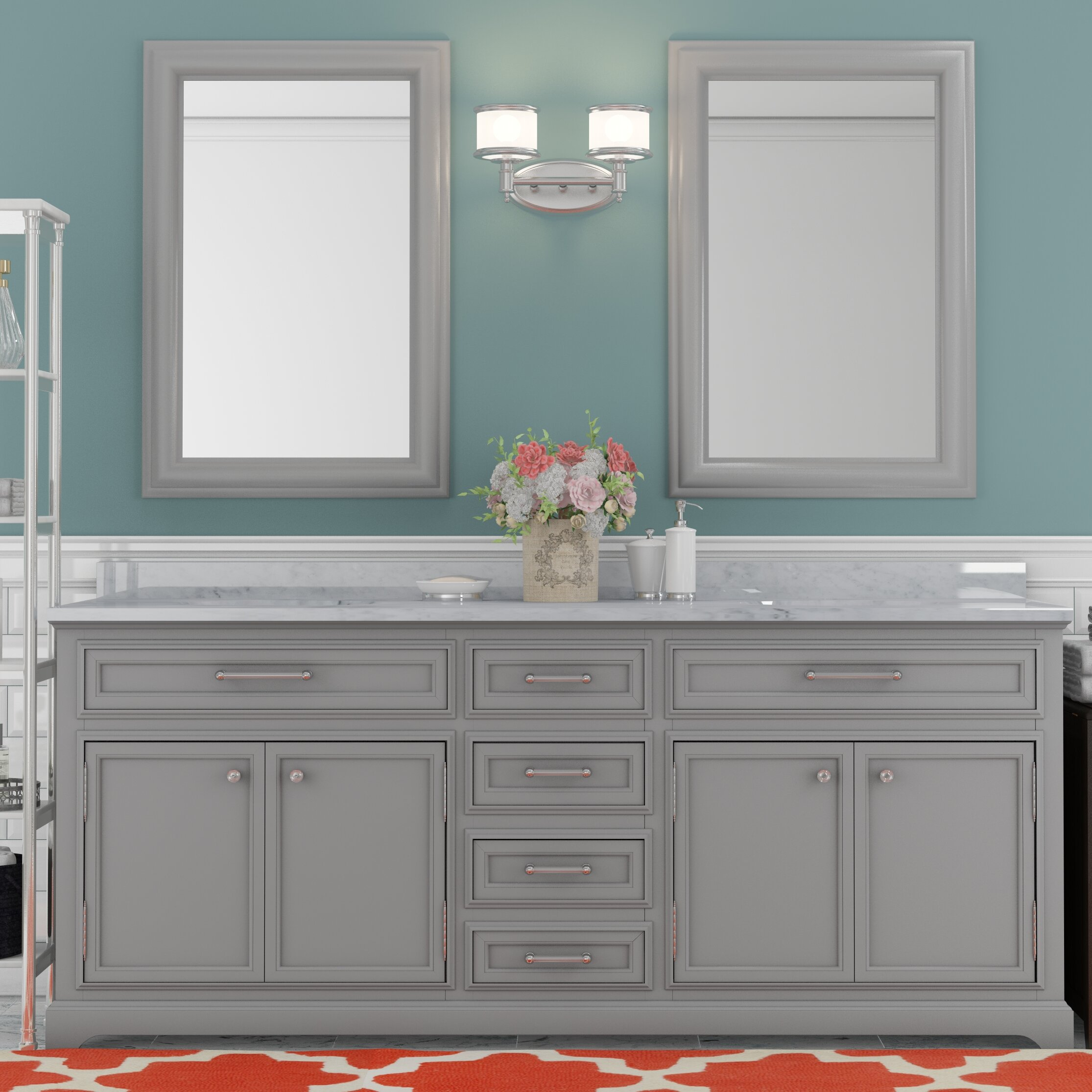 Darby Home Co Colchester 72 Double Sink Bathroom Vanity Set Grey Reviews Wayfair