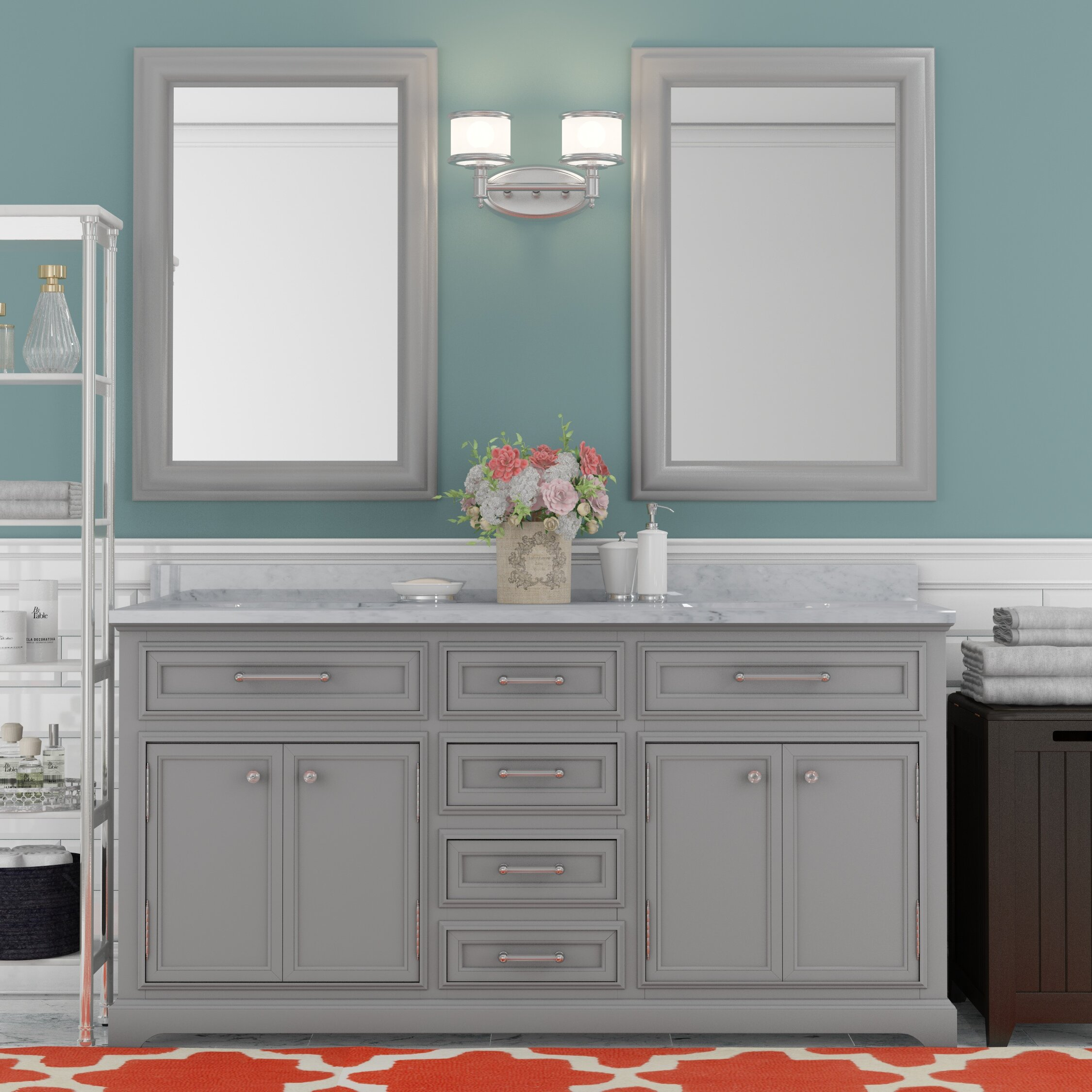 """Darby Home Co Colchester 60"""" Double Sink Bathroom Vanity ..."""