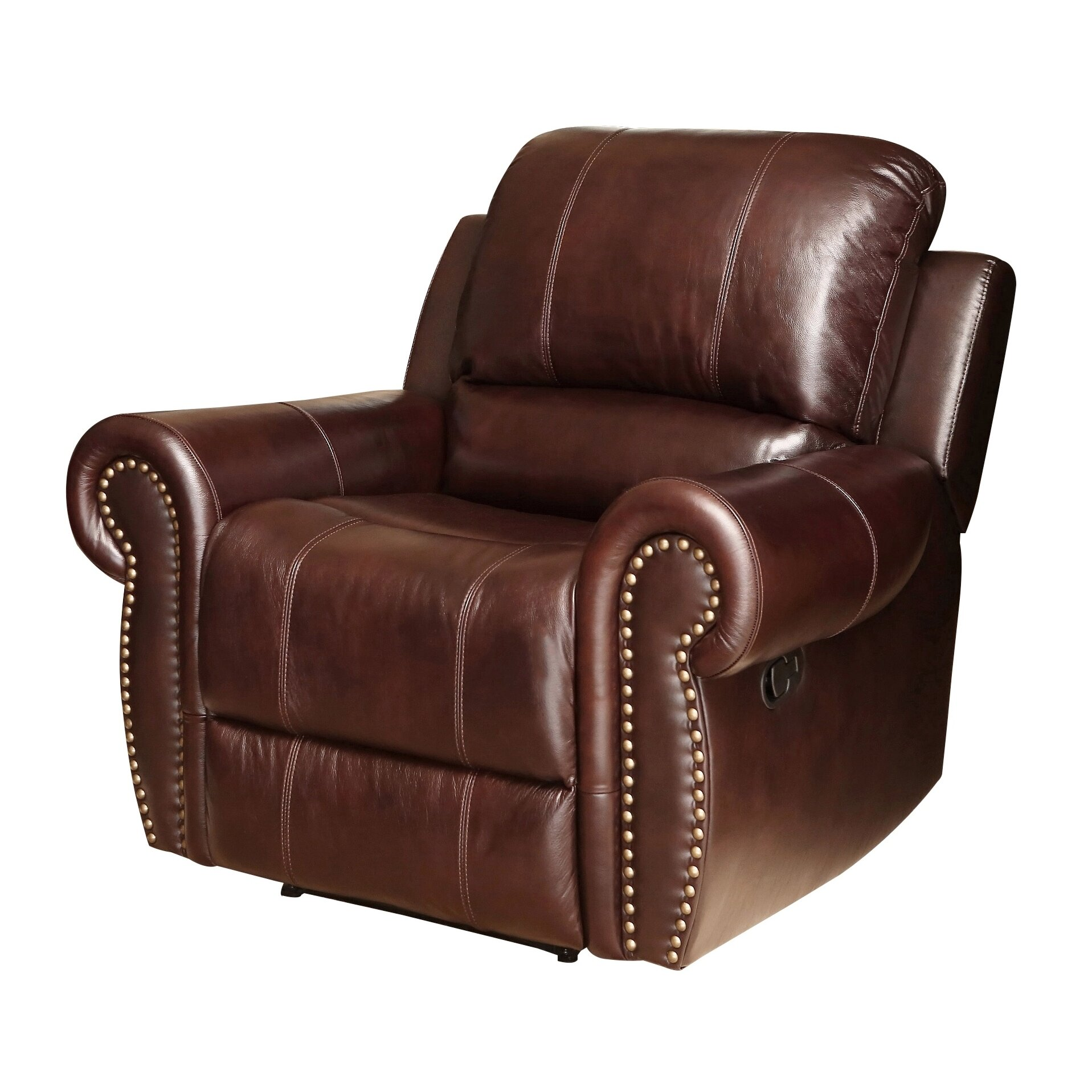 darby home co barnsdale leather chaise recliner reviews