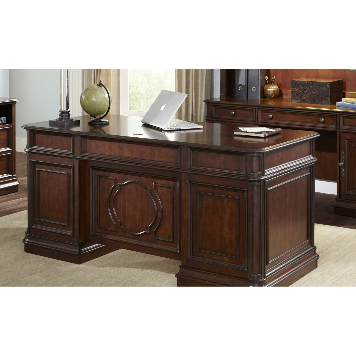 Three Posts Brayton Manor Jr. Executive Desk & Reviews | Wayfair Supply