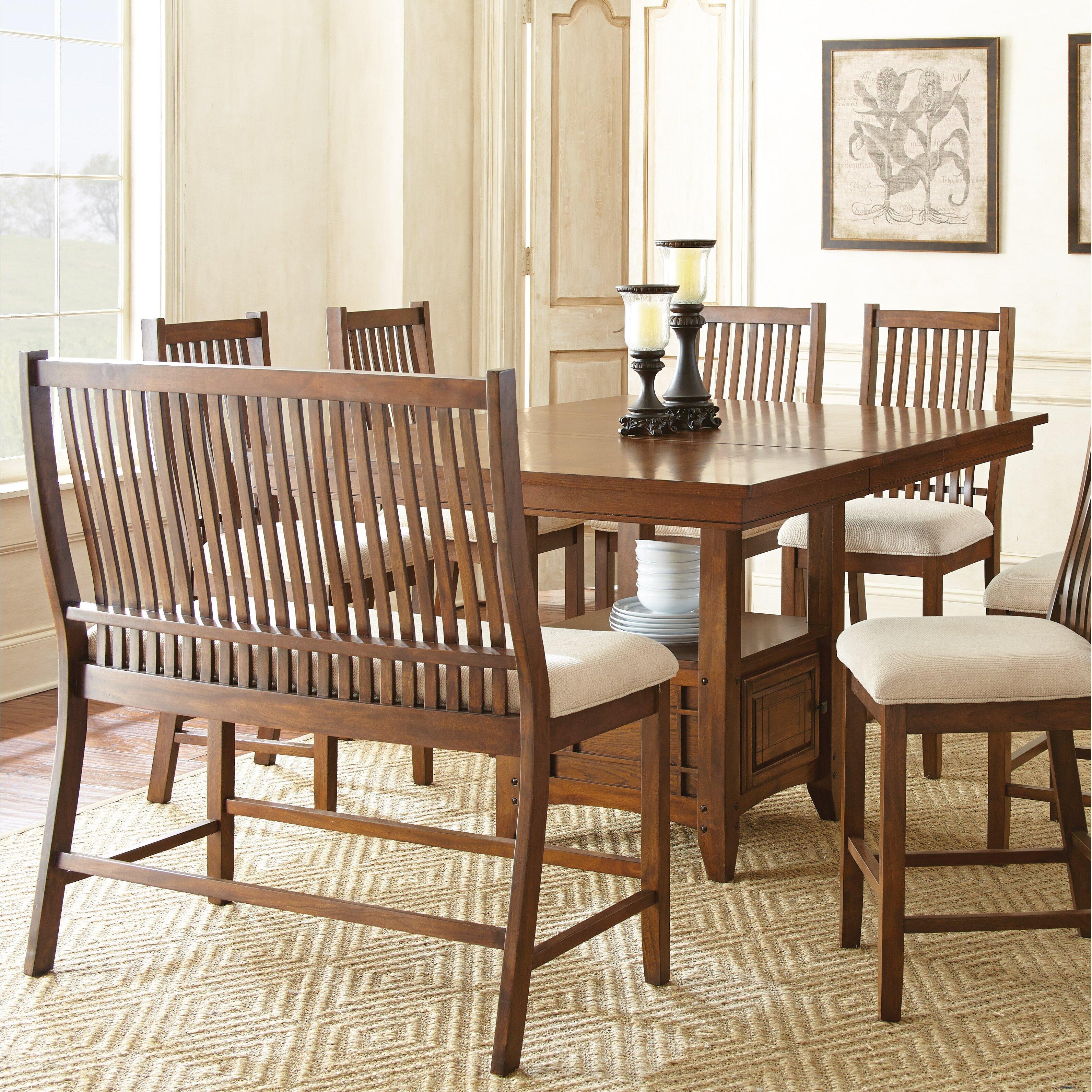 alcott hill kayan 8 piece dining set reviews wayfair. Black Bedroom Furniture Sets. Home Design Ideas