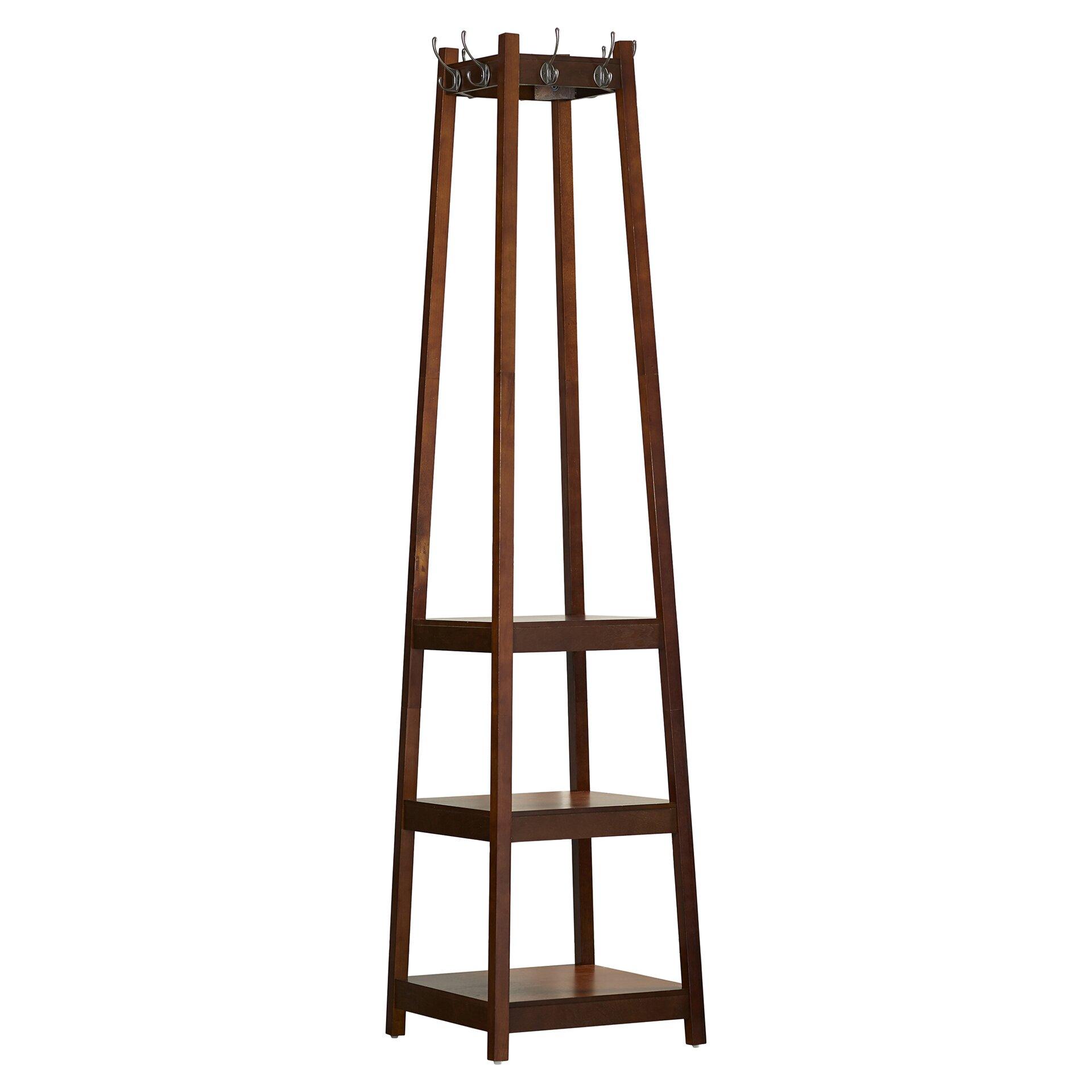 Wooden Floor Lamps Nz : Alcott hill crannell tier tower shoe coat rack reviews wayfair