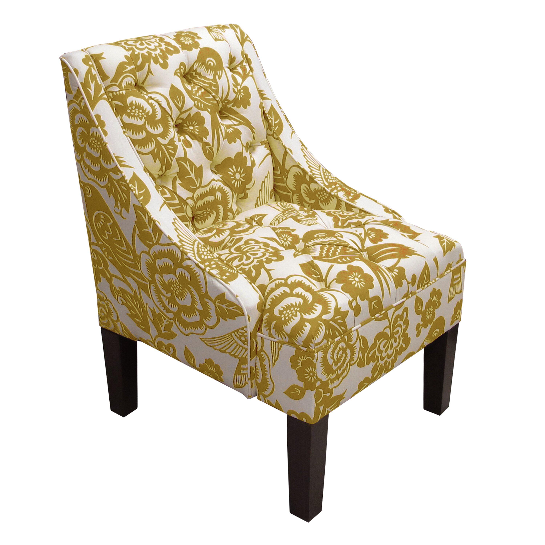 Alcott hill tufted swoop arm chair wayfair
