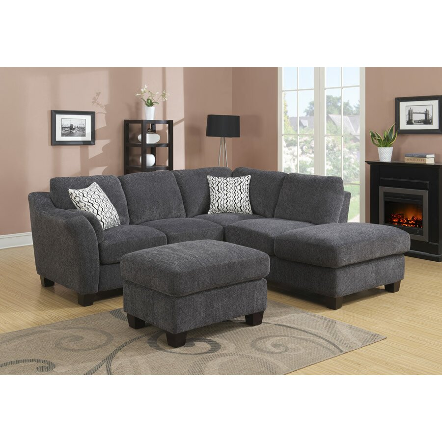 Alcott Hill Patterson Right Hand Facing Sectional