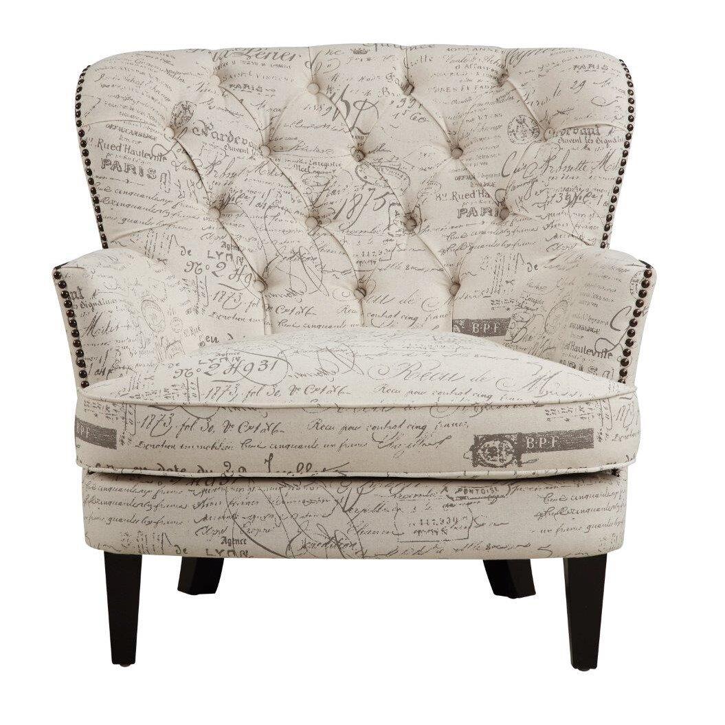 Lark manor timothee script upholstered arm chair amp reviews wayfair