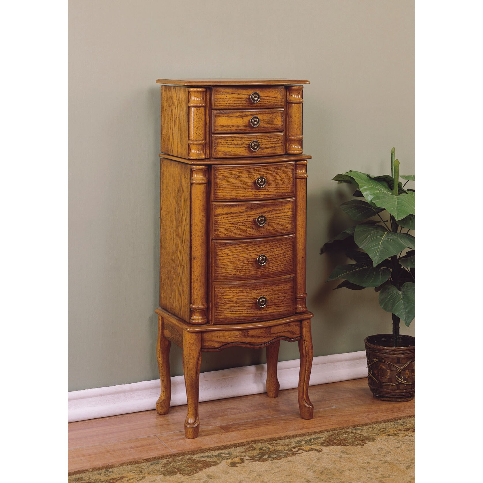 alcott hill barwood jewelry armoire with mirror reviews. Black Bedroom Furniture Sets. Home Design Ideas