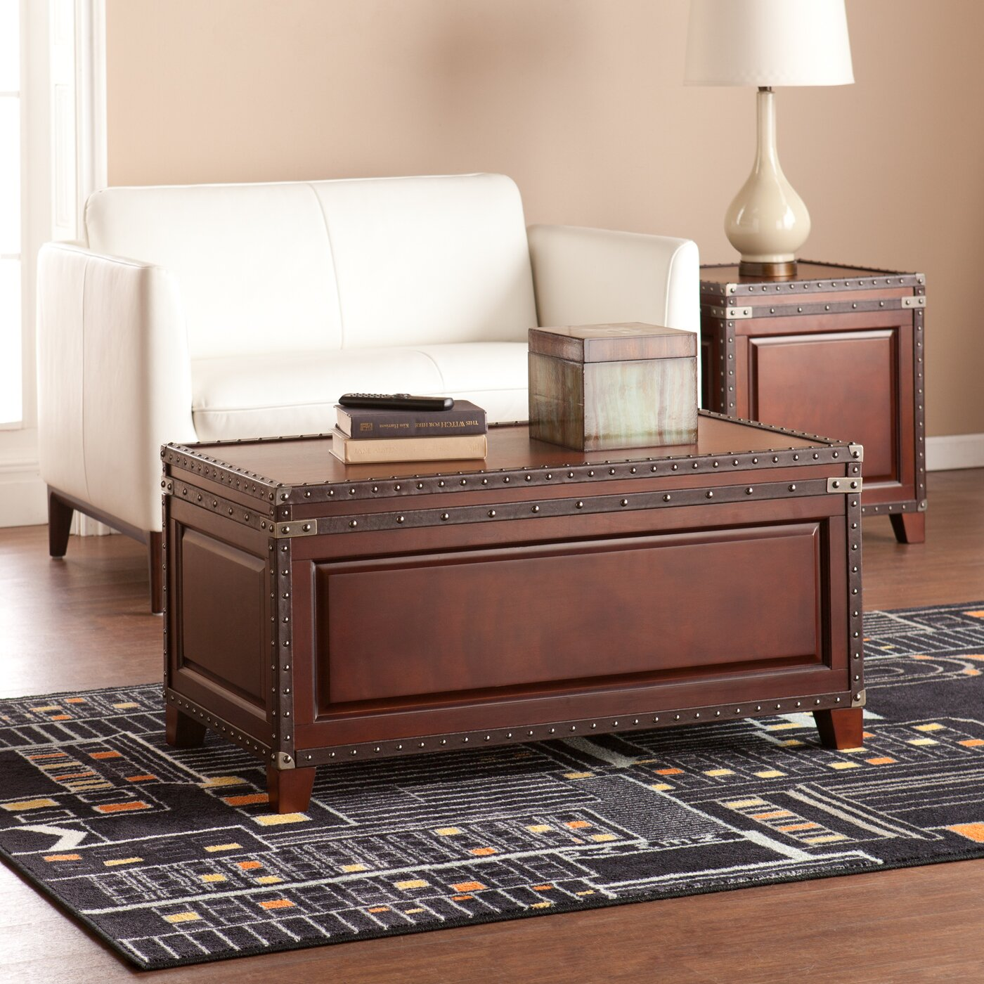 Alcott Hill Newton Coffee Table Trunk & Reviews