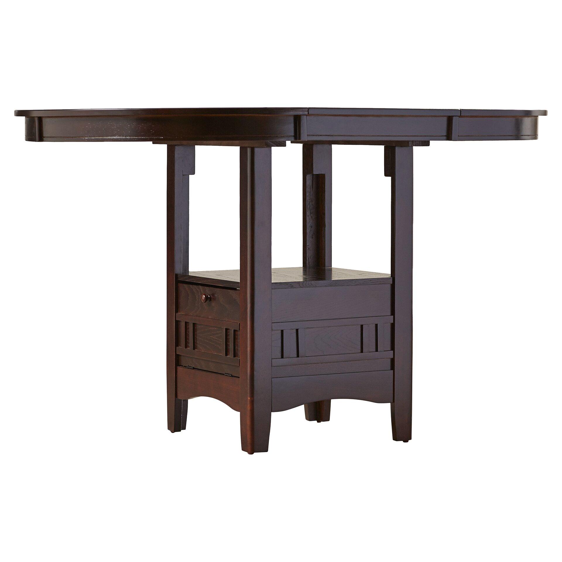 Alcott hill norwalk counter height extendable dining table for Extendable dining table