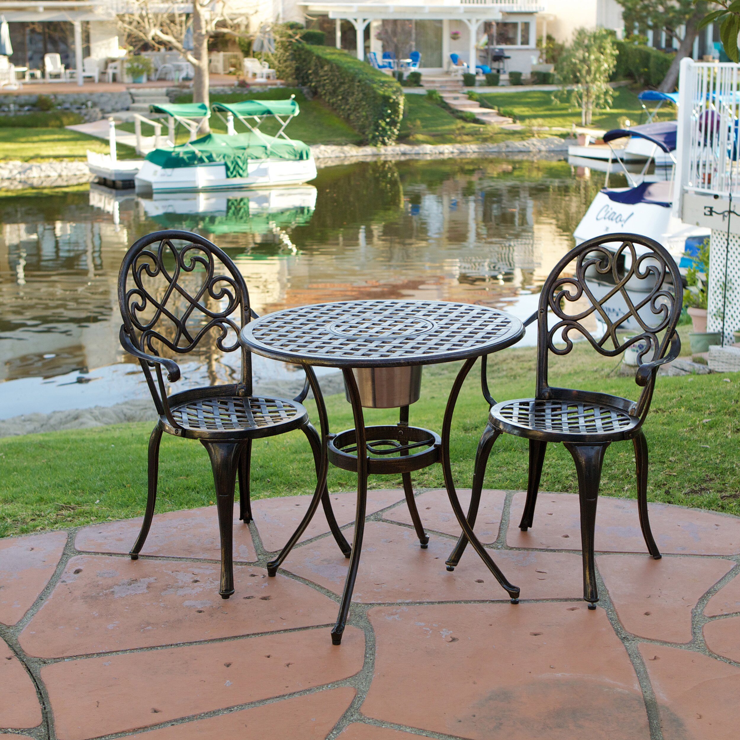 Alcott Hill Chestnut Street 3 Piece Bistro Set & Reviews | Wayfair