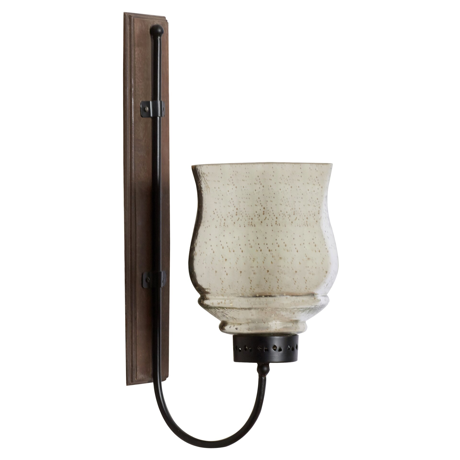 Alcott Hill Hicchecok Metal and Wood Wall Sconce & Reviews ... on Wood And Metal Wall Sconces id=25442