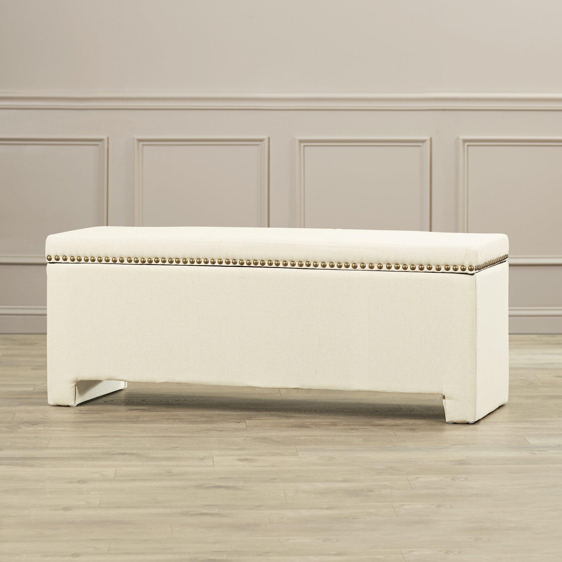 Alcott hill cloville upholstered storage bedroom bench - Bedroom storage bench upholstered ...