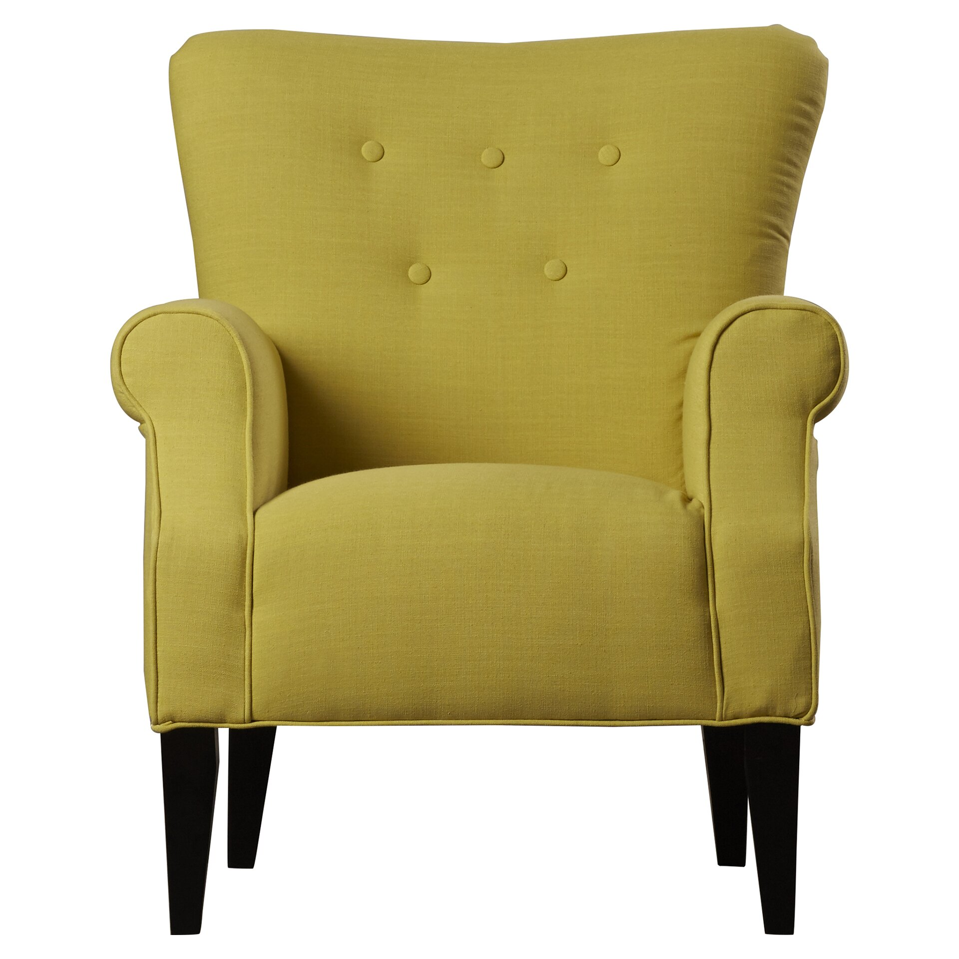 Alcott Hill Delia Neon Button Back Arm Chair & Reviews ...