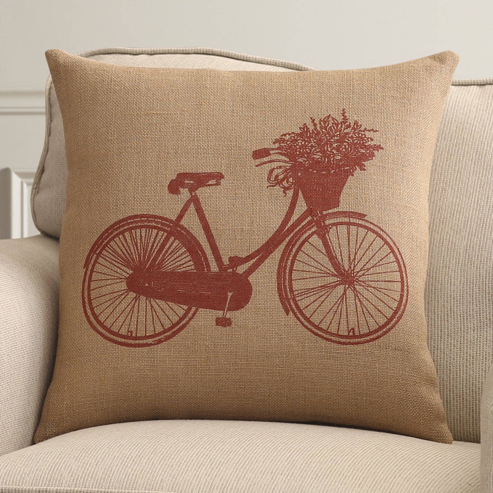 Alcott Hill Bike Throw Pillow & Reviews Wayfair