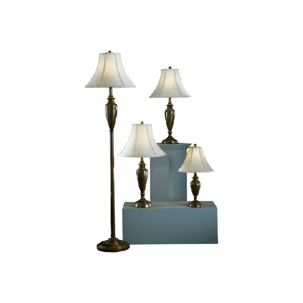 Alcott Hill Lincolnshire 4 Piece Table And Floor Lamp Set