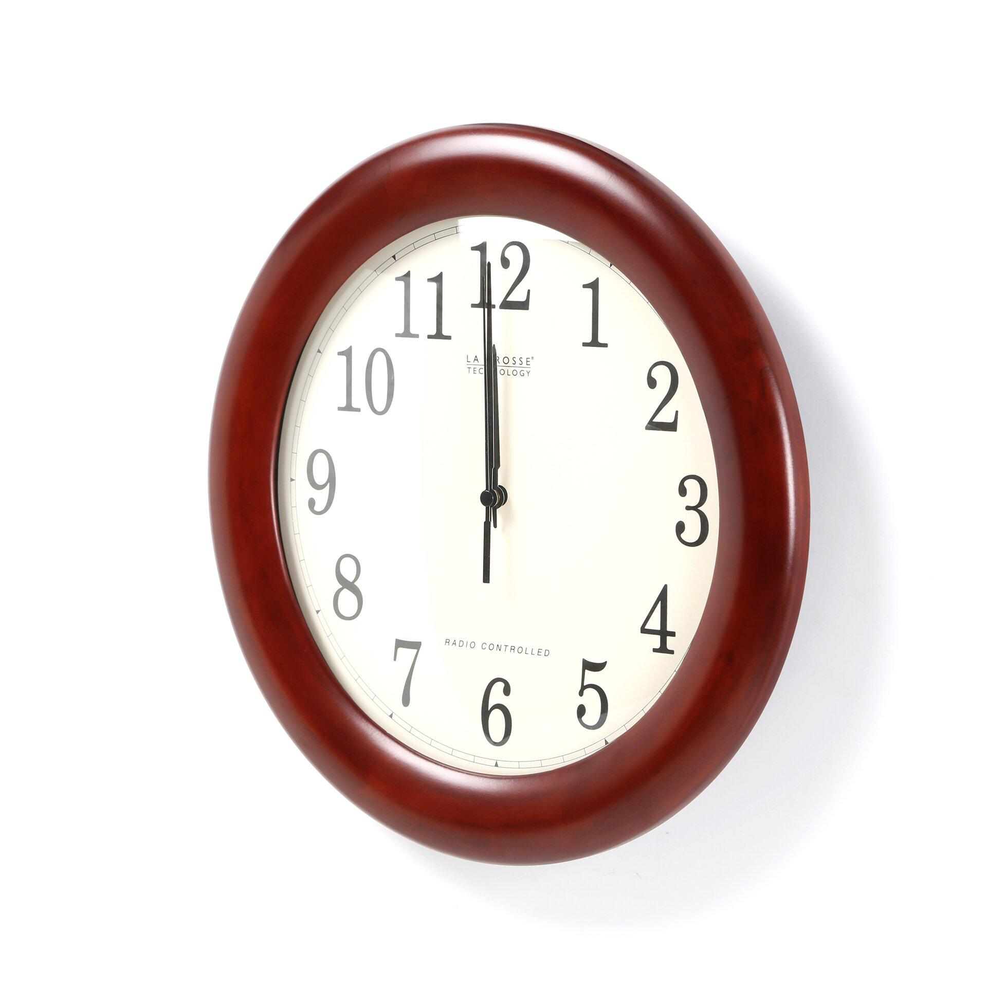 Alcott Hill 12 5 Analog Atomic Wall Clock Reviews Wayfair