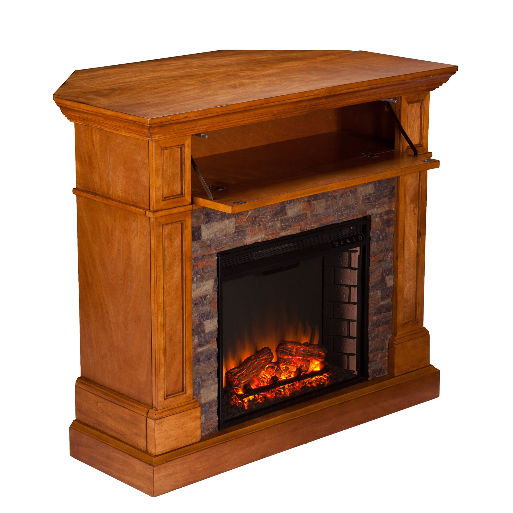Alcott Hill Bluff Canyon Thornton Faux Stone Convertible Electric Fireplace Reviews Wayfair