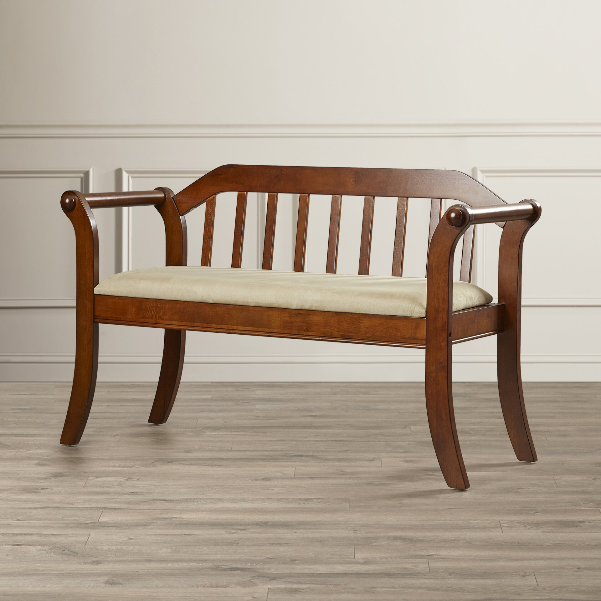 Amazing photo of Alcott Hill Yorkshire Wood Entryway Bench & Reviews Wayfair.ca with #6A3A1C color and 1920x1920 pixels