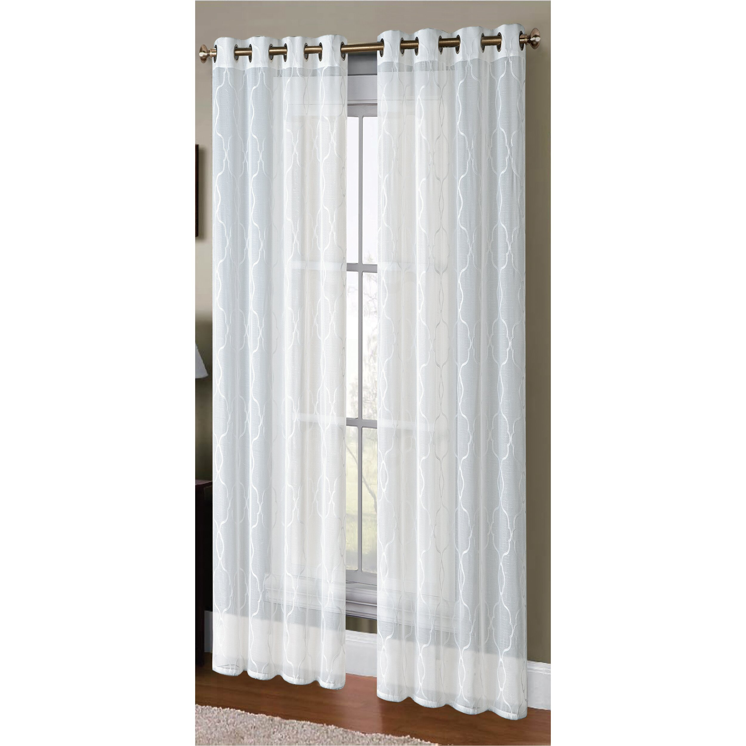 Alcott Hill Knollwood Boho Embroided Sheer Curtain Panels Reviews Wayfair