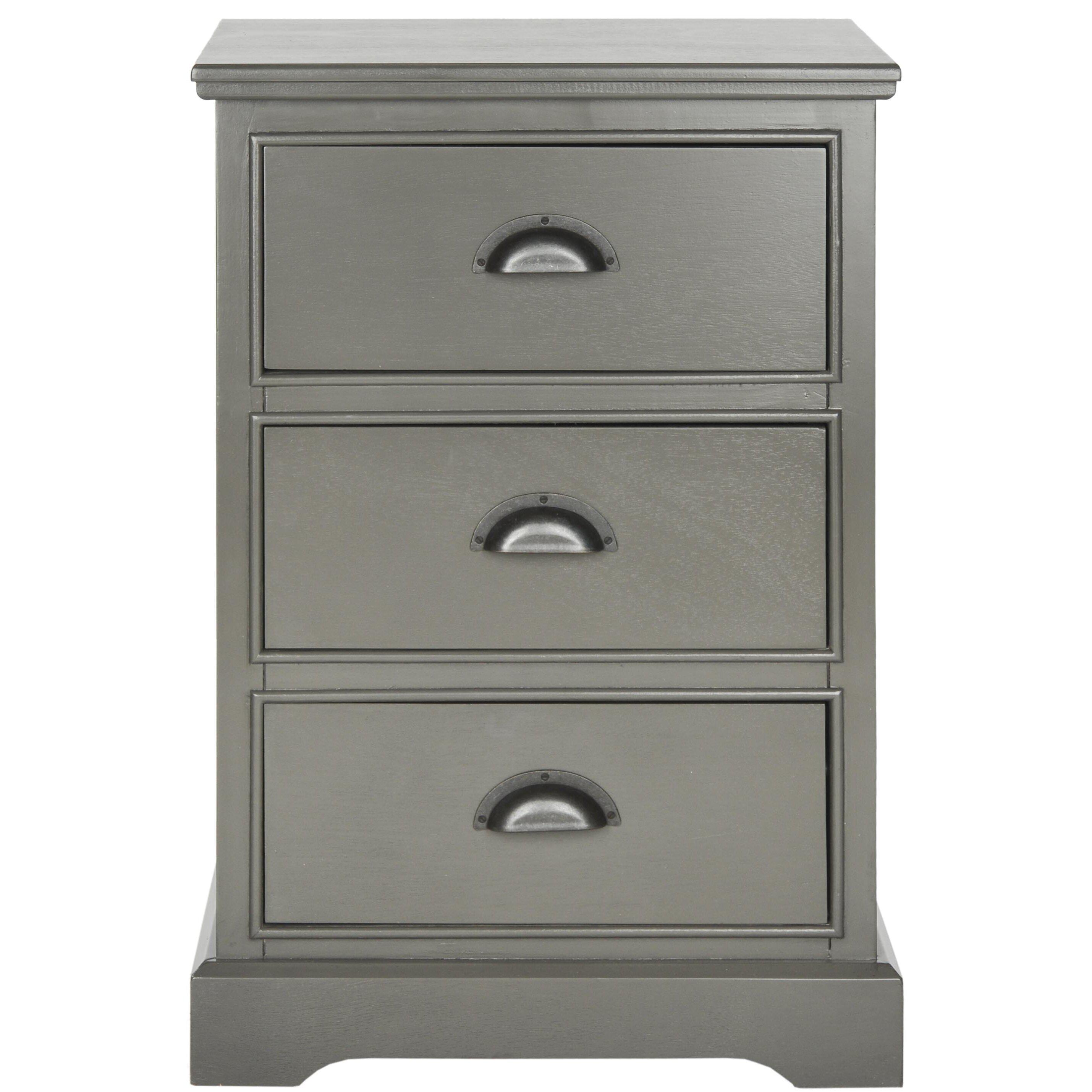 alcott hill 3 drawer end table reviews wayfair. Black Bedroom Furniture Sets. Home Design Ideas