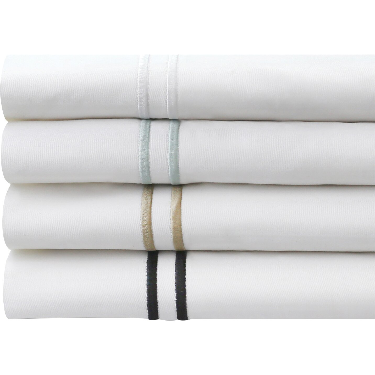 Malouf Hotel 200 Thread Count Percale Bed Sheet Set