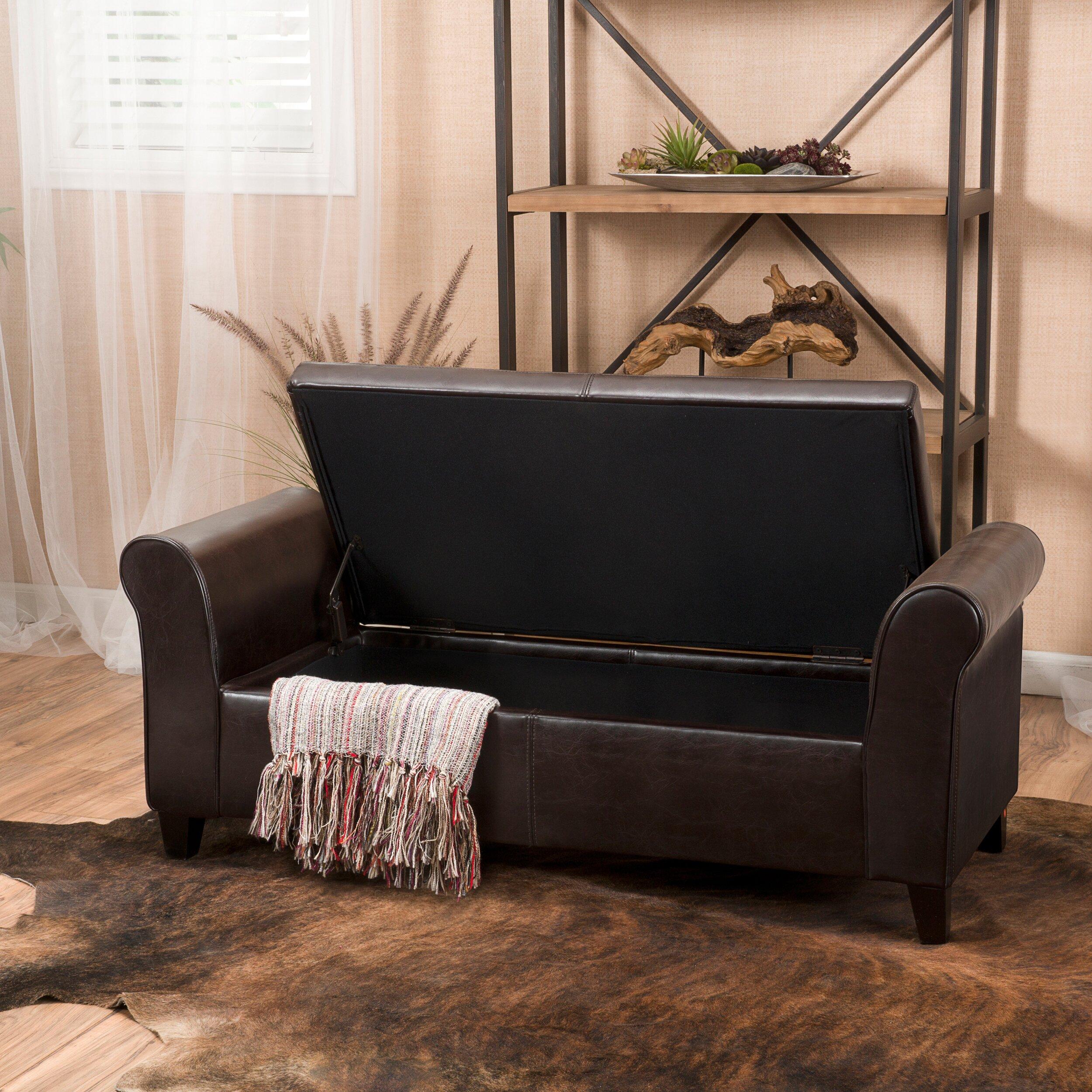 Varian Upholstered Storage Bedroom Bench Birchlane: Alcott Hill Varian Upholstered Storage Bedroom Bench