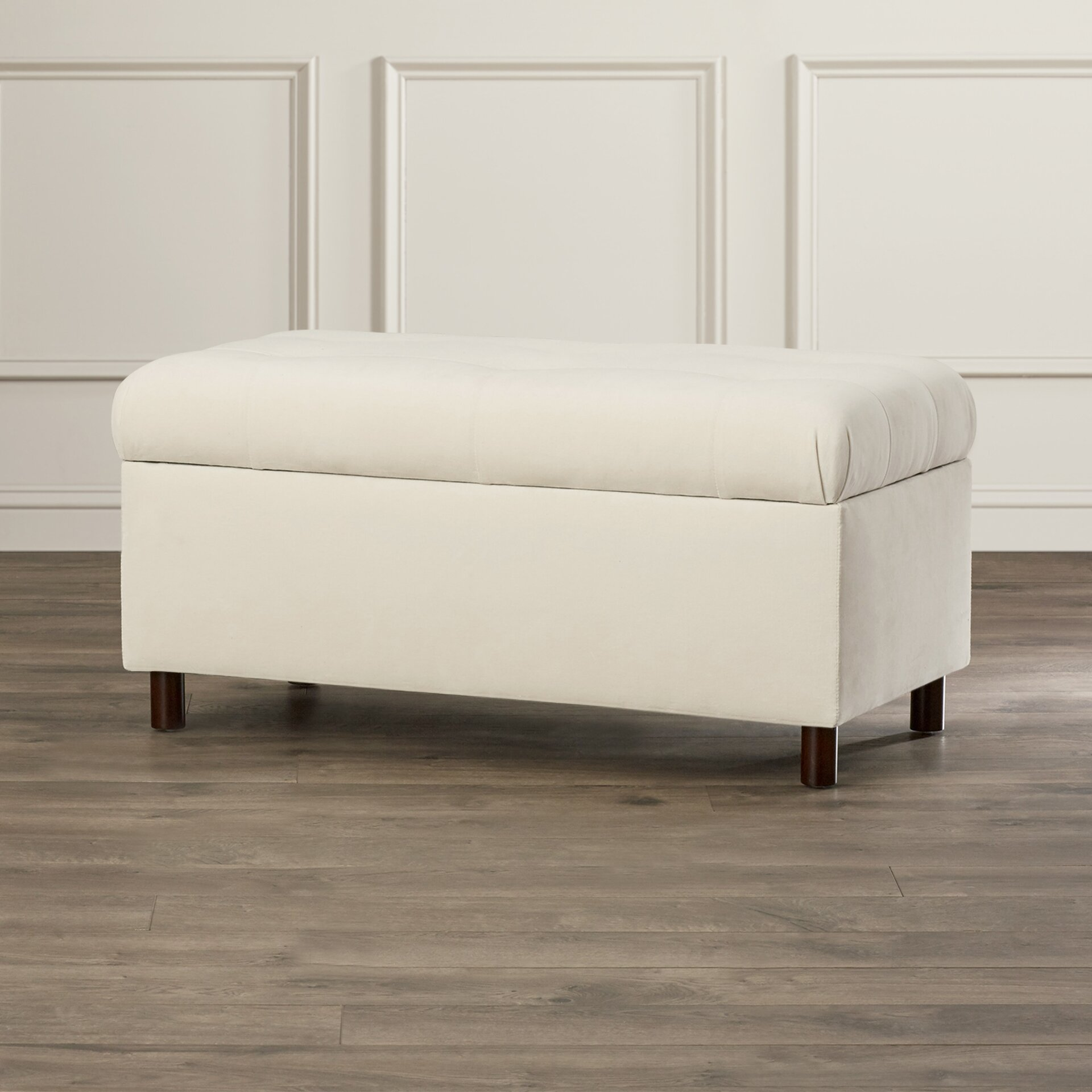 Varian Upholstered Storage Bedroom Bench Reviews: Alcott Hill Regal Upholstered Storage Bedroom Bench