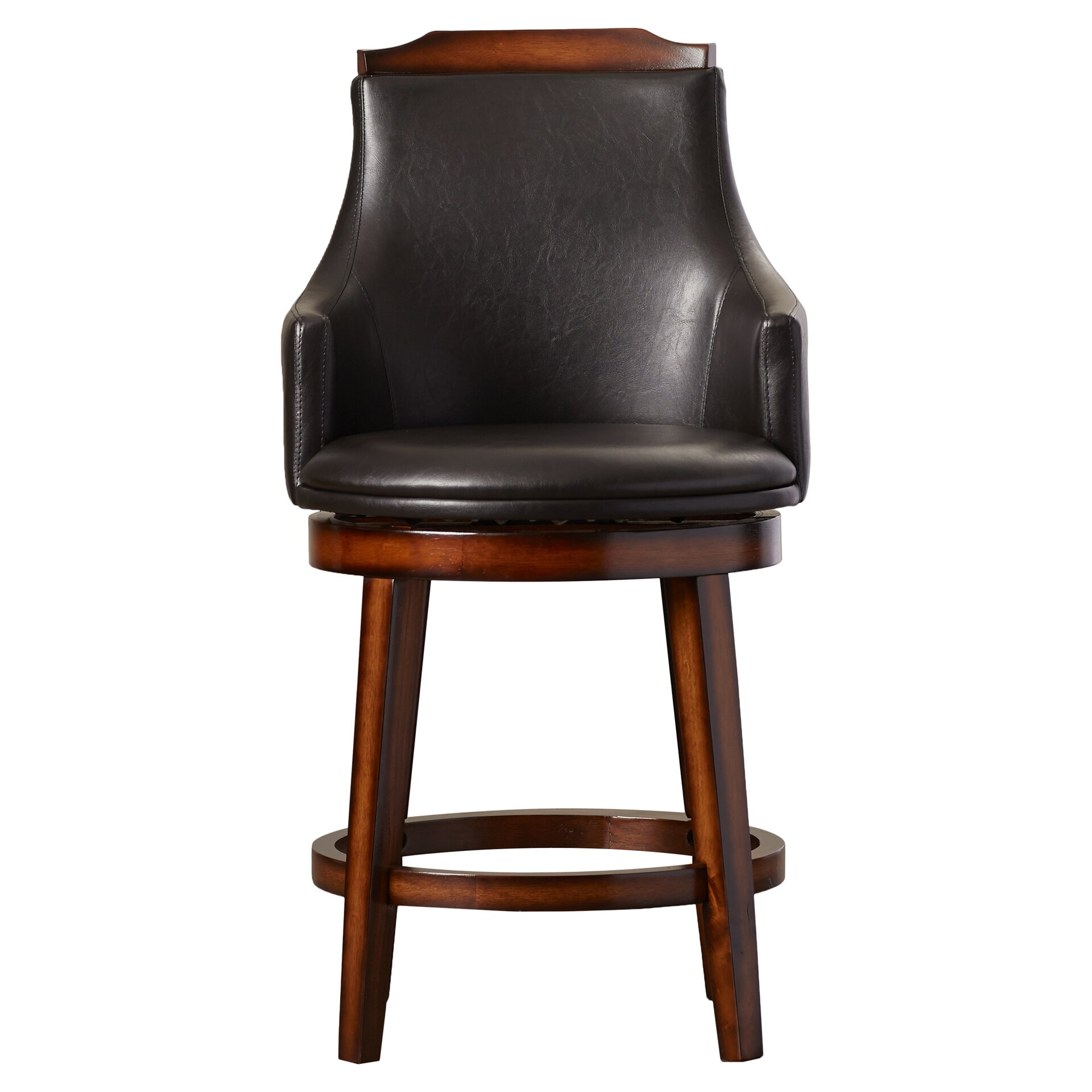 Alcott Hill Edward 24 Quot Swivel Bar Stool With Cushion