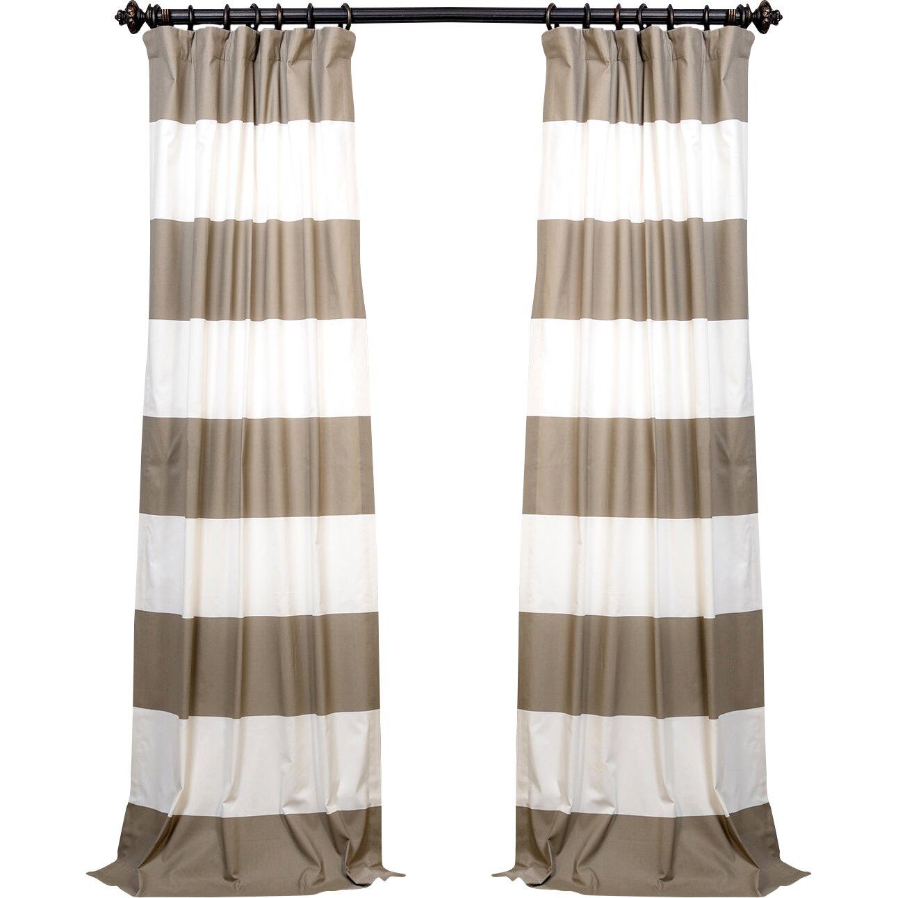 Alcott Hill Wilkesville Horizontal Stripe Cotton Single Curtain Panel Reviews Wayfair