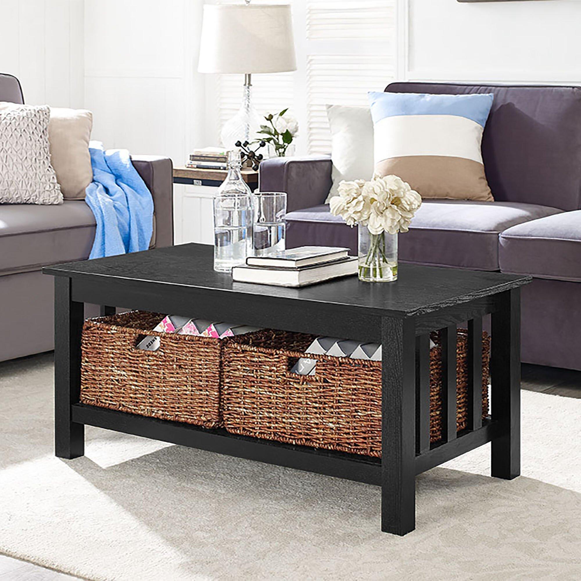 alcott hill stillman wood storage coffee table reviews wayfair. Black Bedroom Furniture Sets. Home Design Ideas