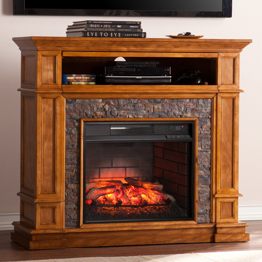 Alcott Hill Cargile Simulated Media Center Infrared Electric Fireplace Reviews Wayfair