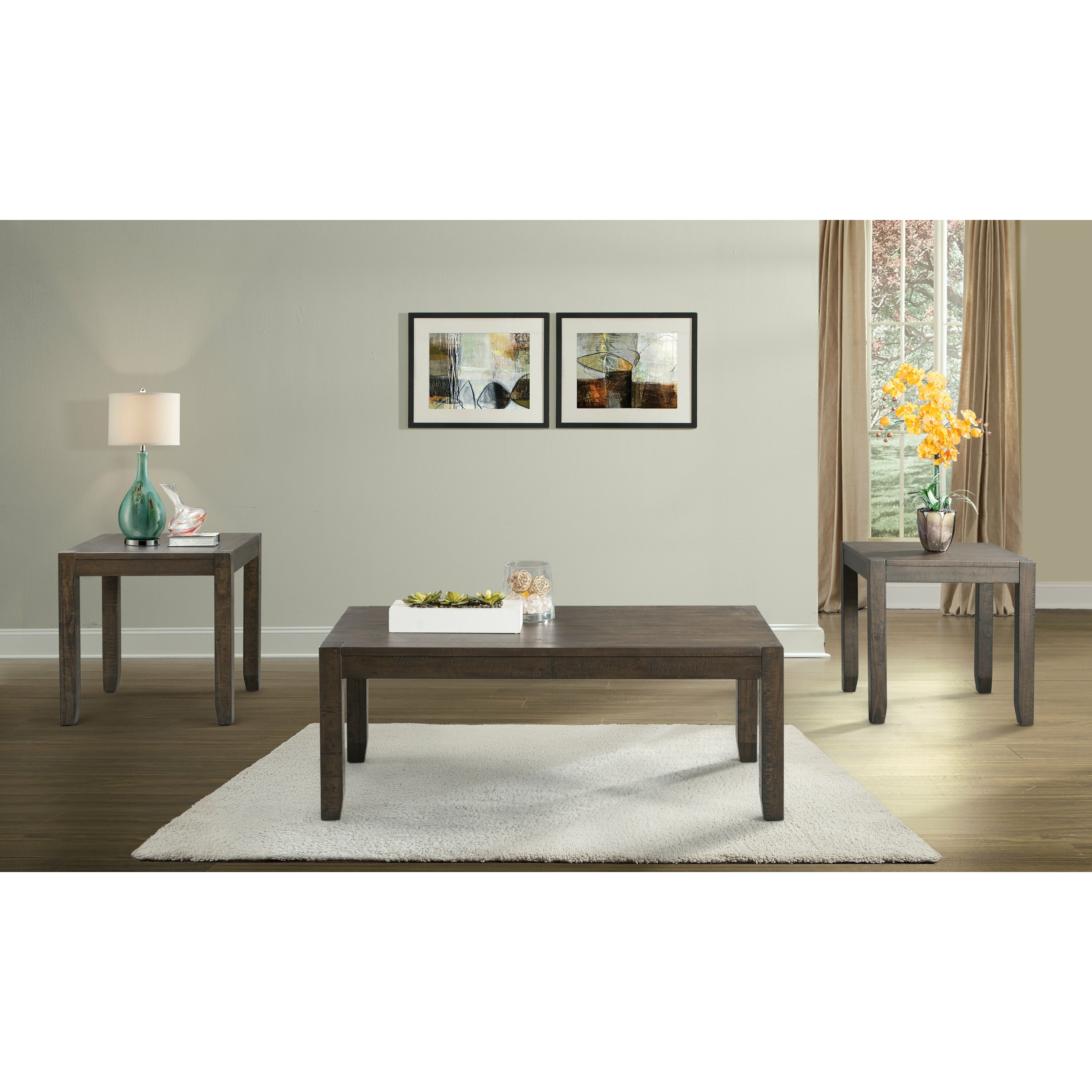 Alcott Hill Inwood Occasional 3 Piece Coffee Table Set