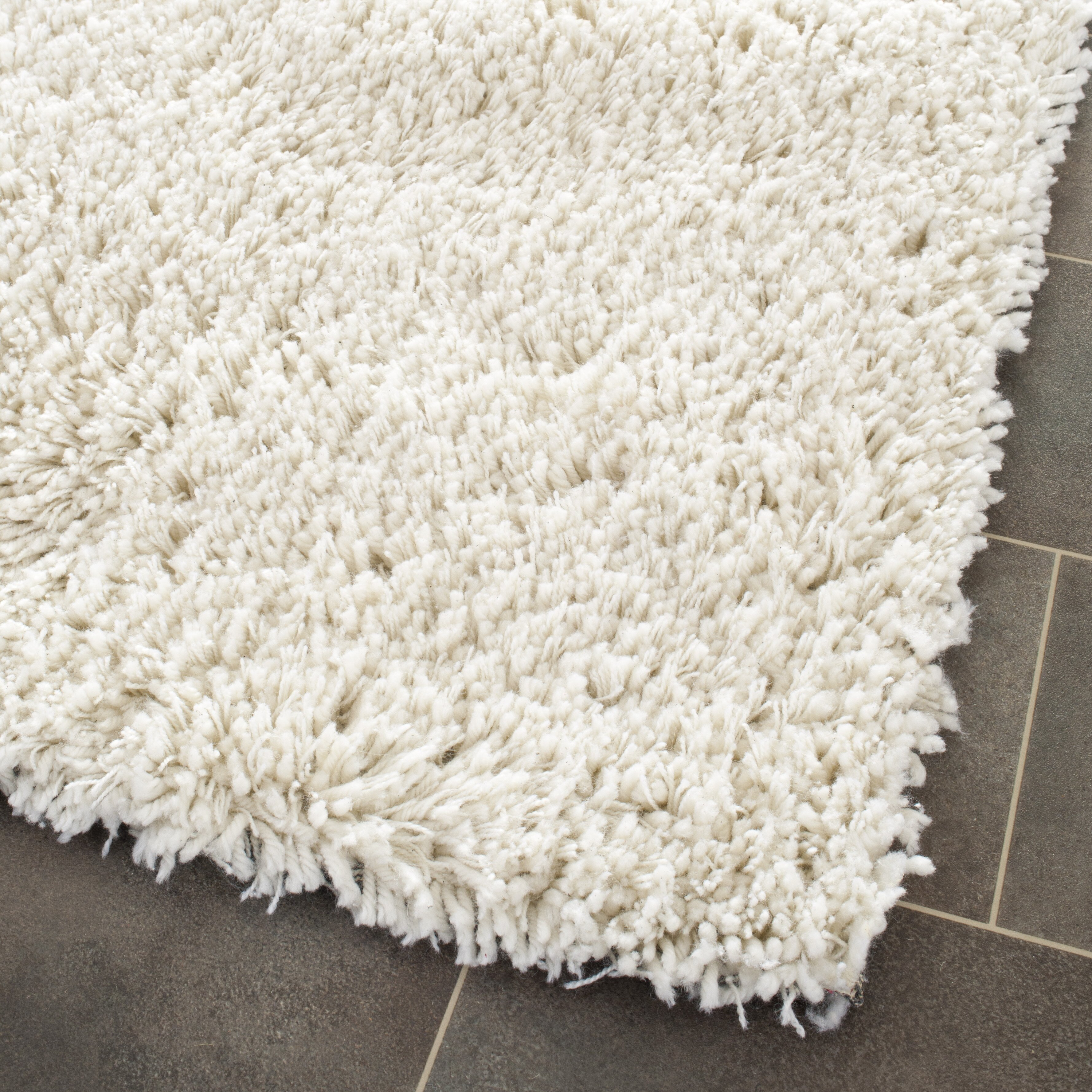 Charlton Home Pierce White Shag Area Rug u0026 Reviews : Wayfair