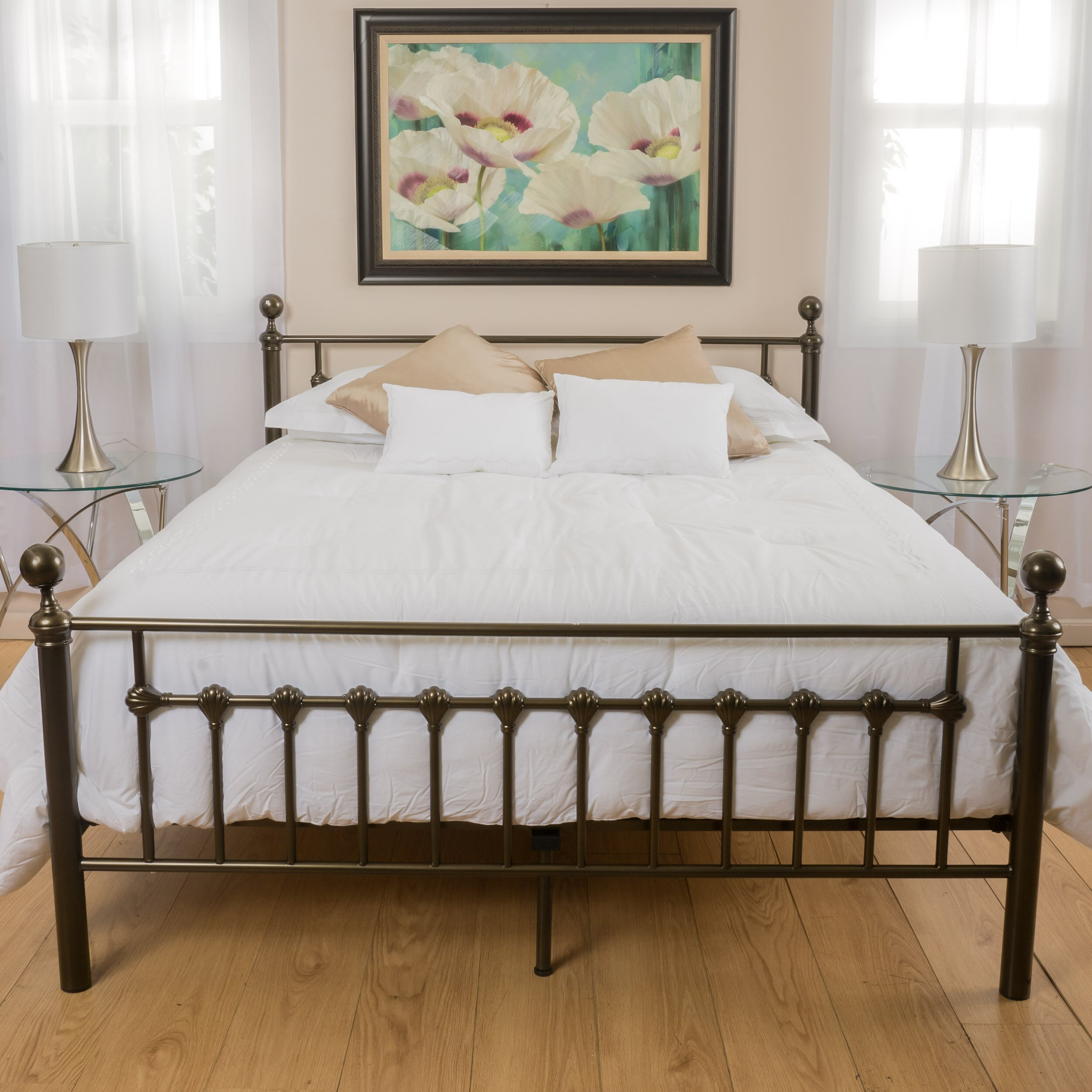 Charlton Home Keswick Copper Gold Bed Frame & Reviews