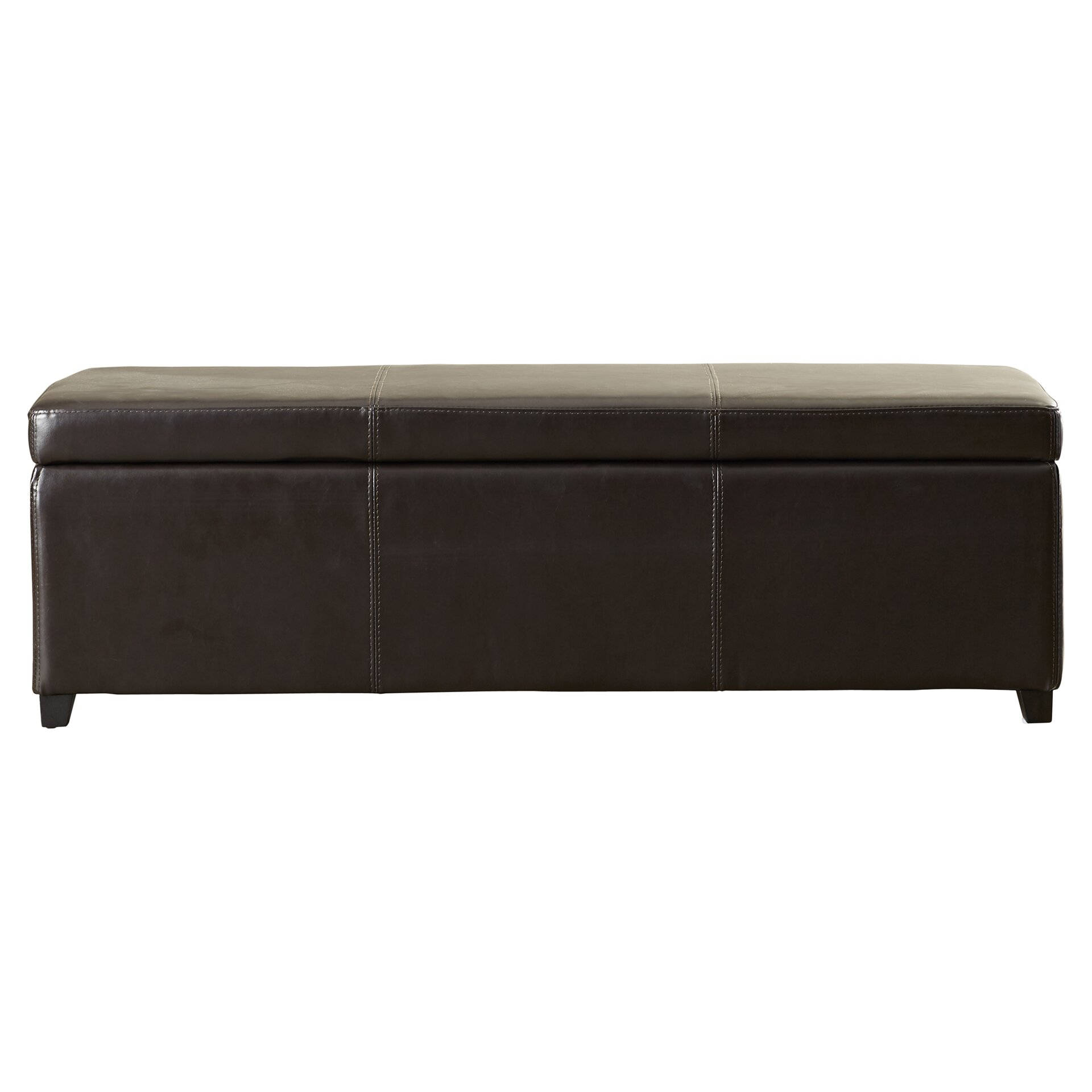 Charlton Home Ephraim Leather Storage Ottoman Bench Reviews
