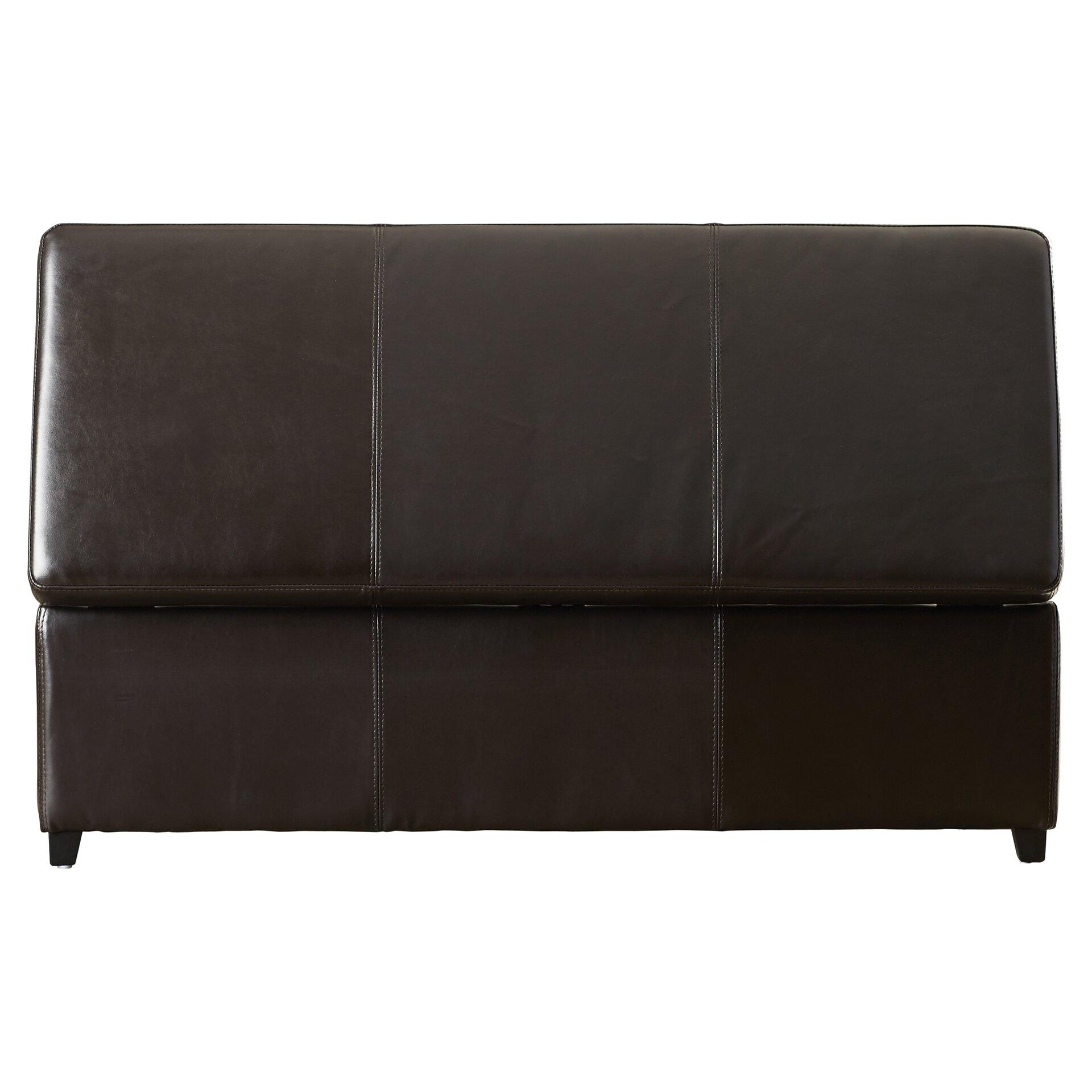 Charlton Home Ephraim Leather Storage Ottoman Bench