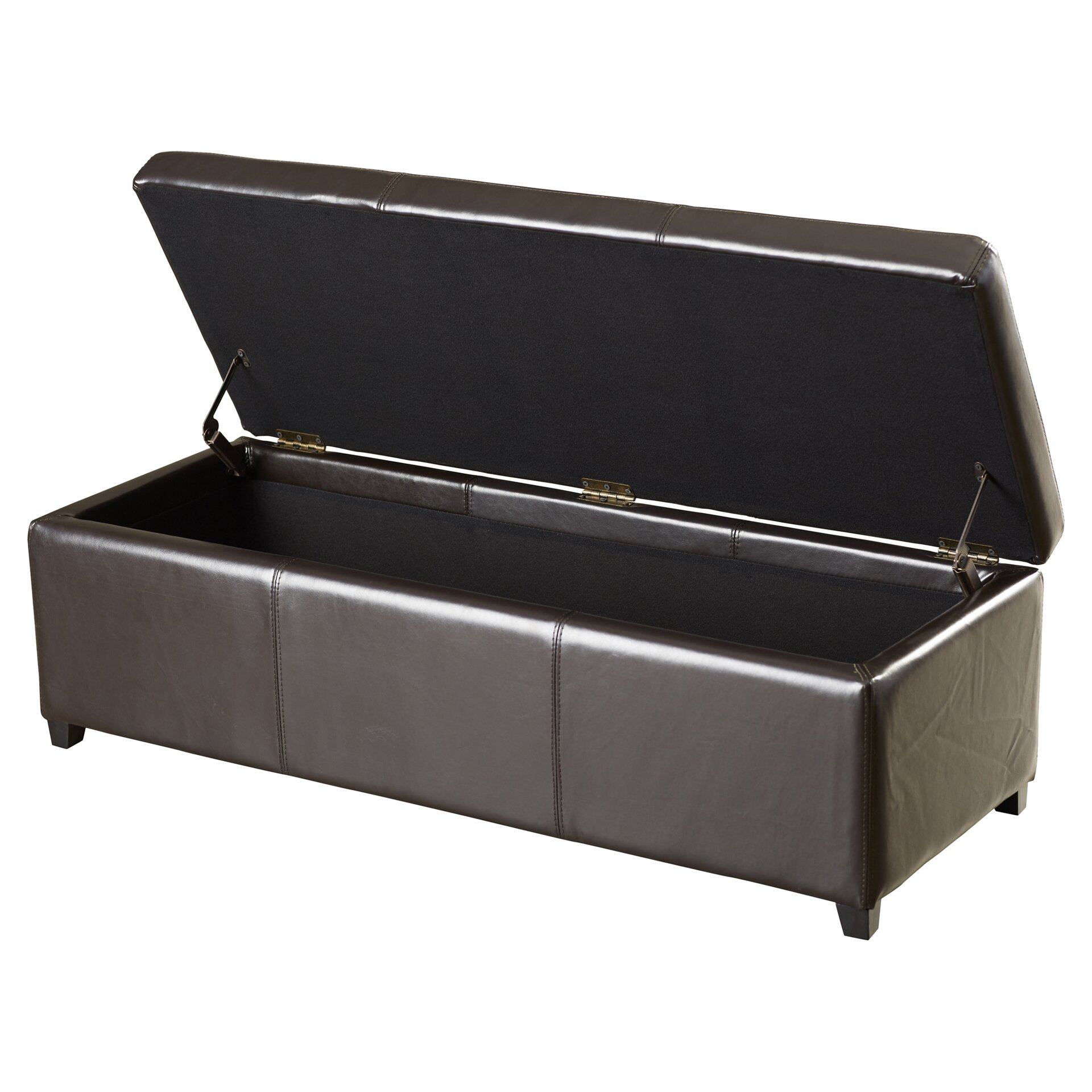 Charlton home ephraim leather storage ottoman bench for Storage charlton