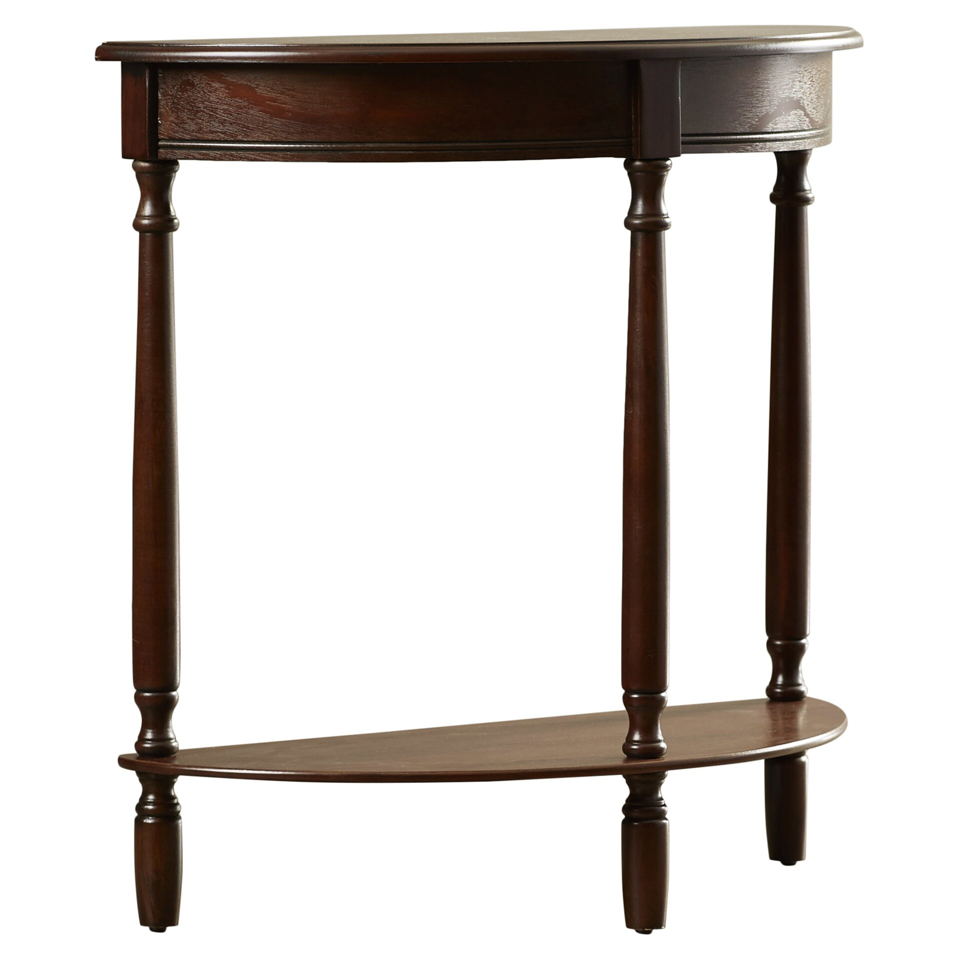 Charlton home spelman crescent half moon console table for Half moon console table