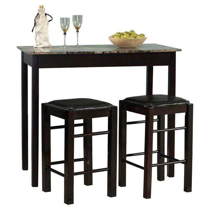charlton home prosser 3 piece counter height dining set reviews wayfair. Black Bedroom Furniture Sets. Home Design Ideas