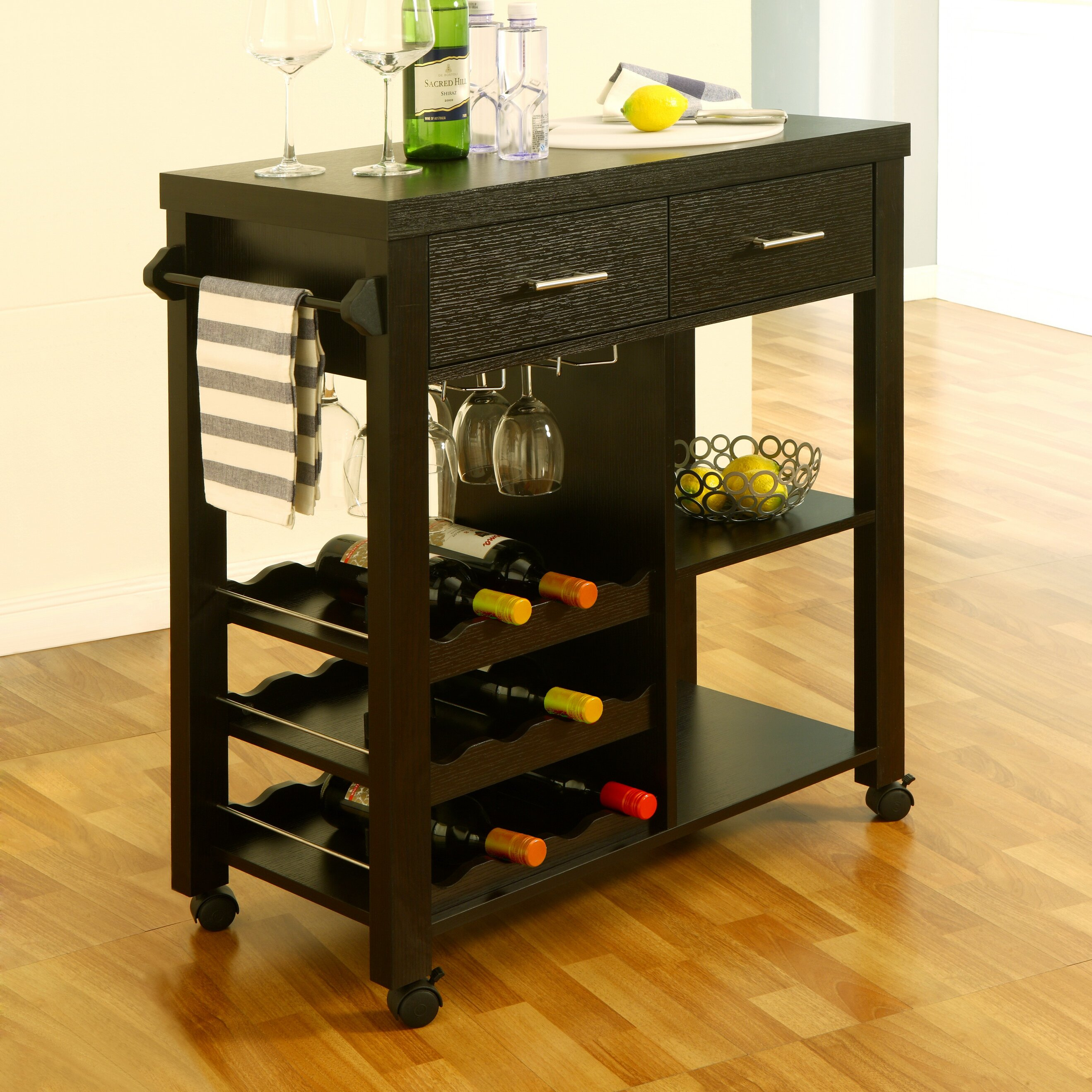 Charlton Home Ashworth Kitchen Bar Cart Amp Reviews Wayfair