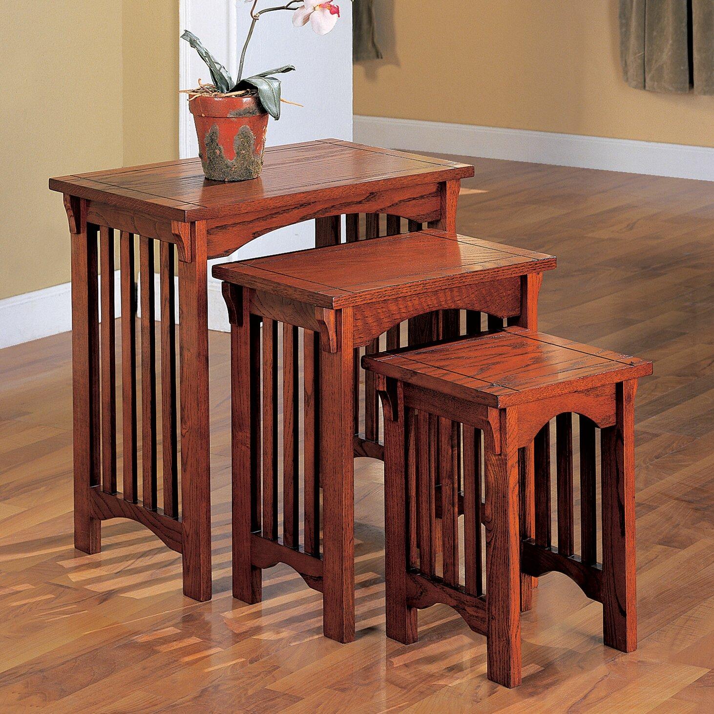 charlton home 3 piece nesting table set reviews wayfair. Black Bedroom Furniture Sets. Home Design Ideas