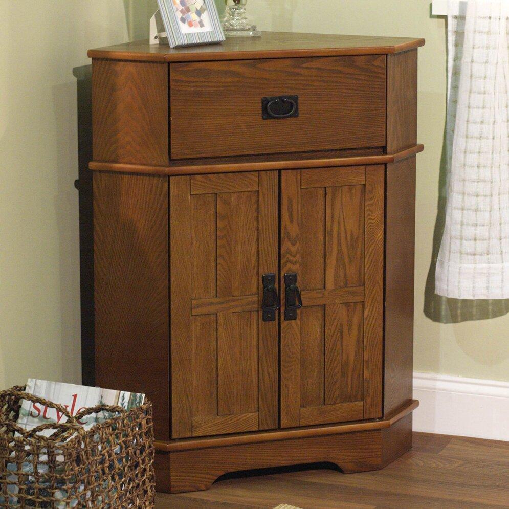 Charlton Home Whitaker 2 Door Corner Cabinet Reviews