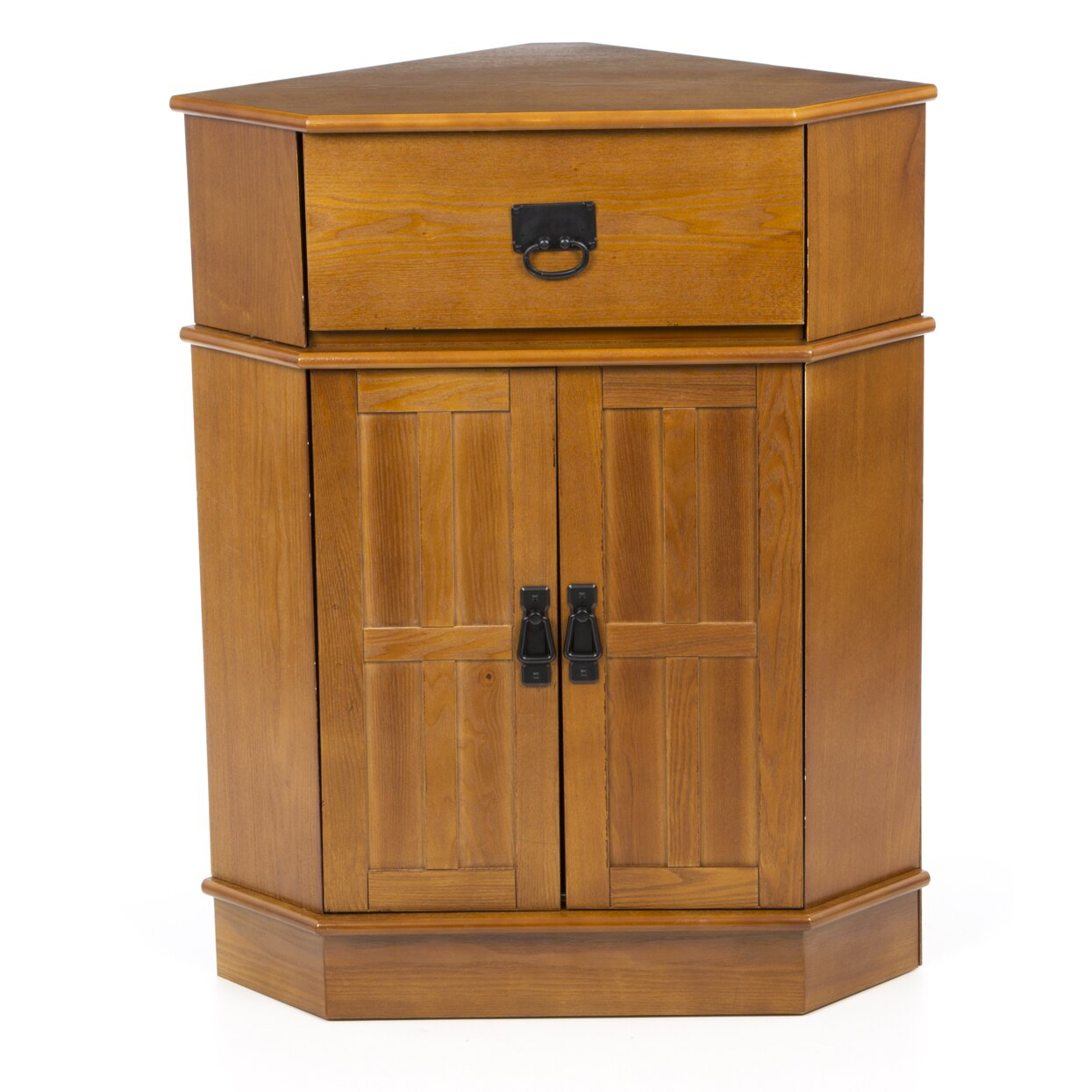 Charlton home whitaker 2 door corner cabinet reviews for Corner cabinet