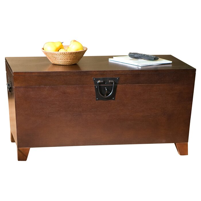 Charlton home bischoptree storage trunk coffee table for Glass trunk coffee table