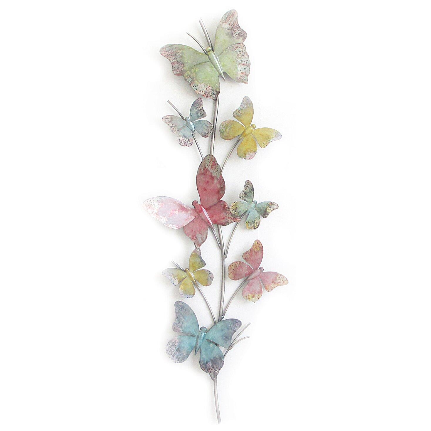 Charlton Home Butterflies Wall Decor Reviews Wayfair