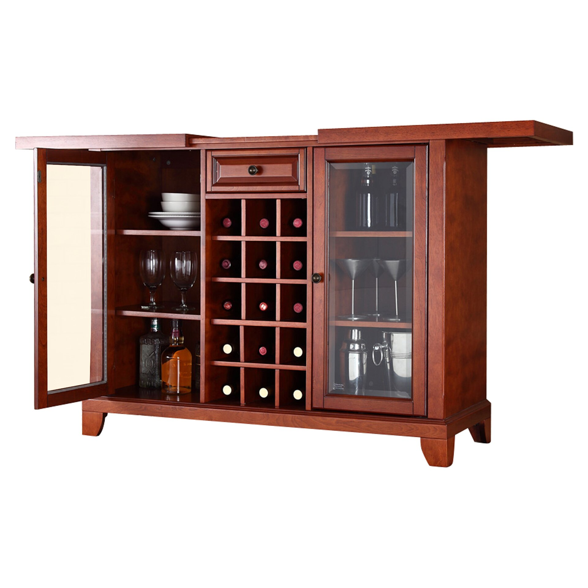Charlton home pearshill bar with wine storage reviews for Storage charlton