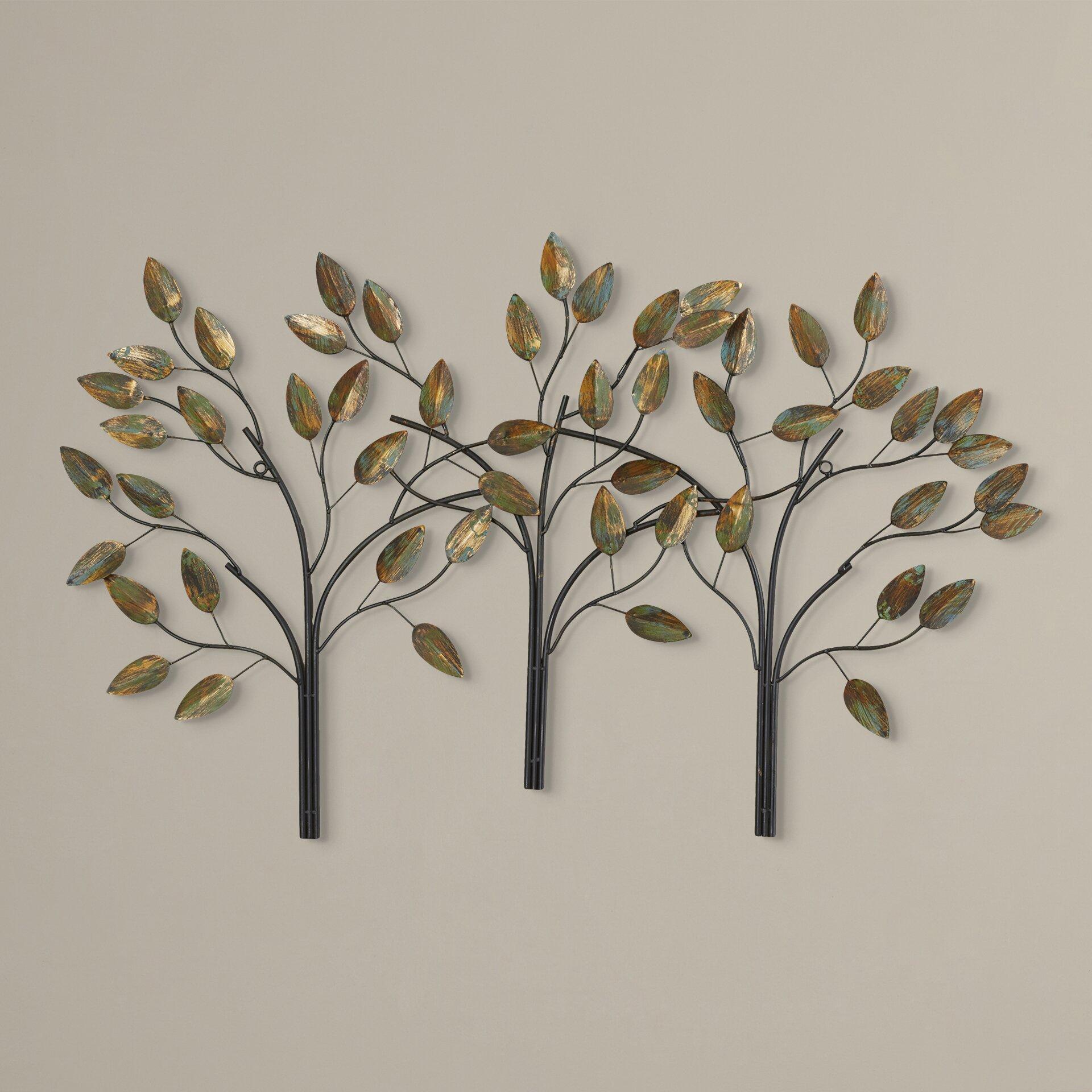 Wall Art Of Leaves : Charlton home desford leaf wall d?cor reviews wayfair