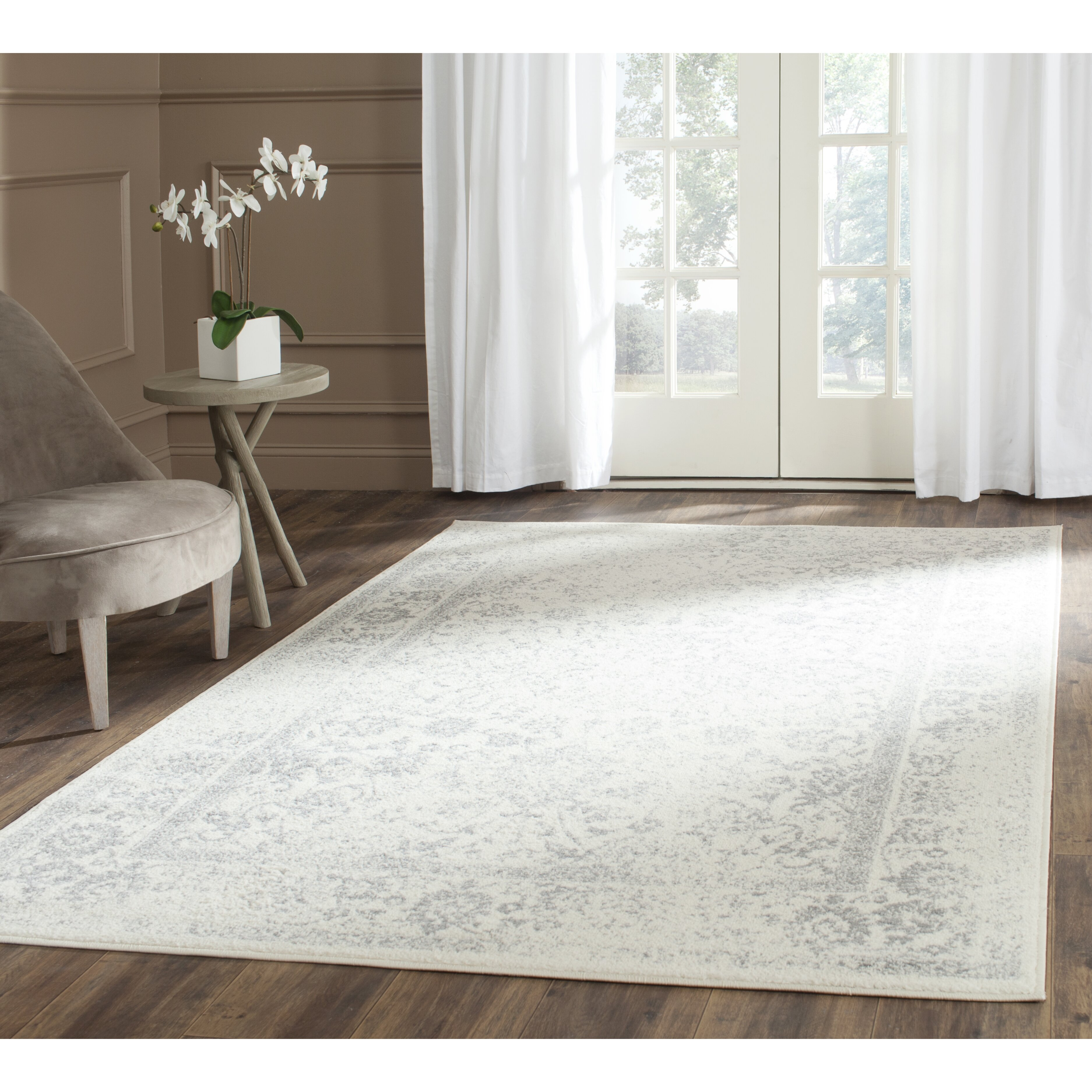 Charlton Home Reynolds Ivory Silver Area Rug Amp Reviews