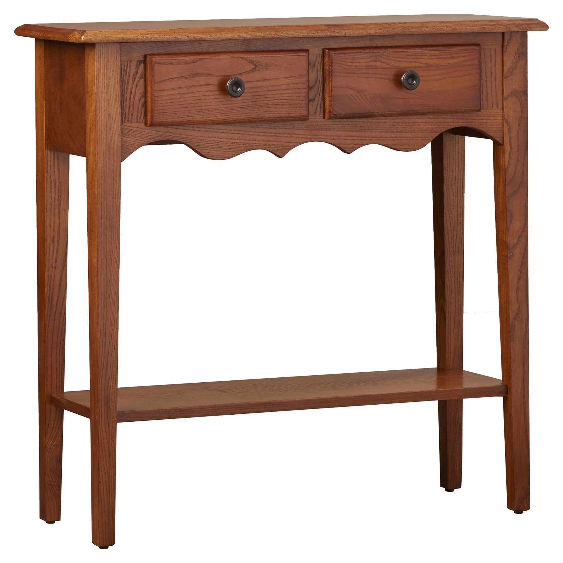 charlton home apple valley petite console table reviews wayfair. Black Bedroom Furniture Sets. Home Design Ideas